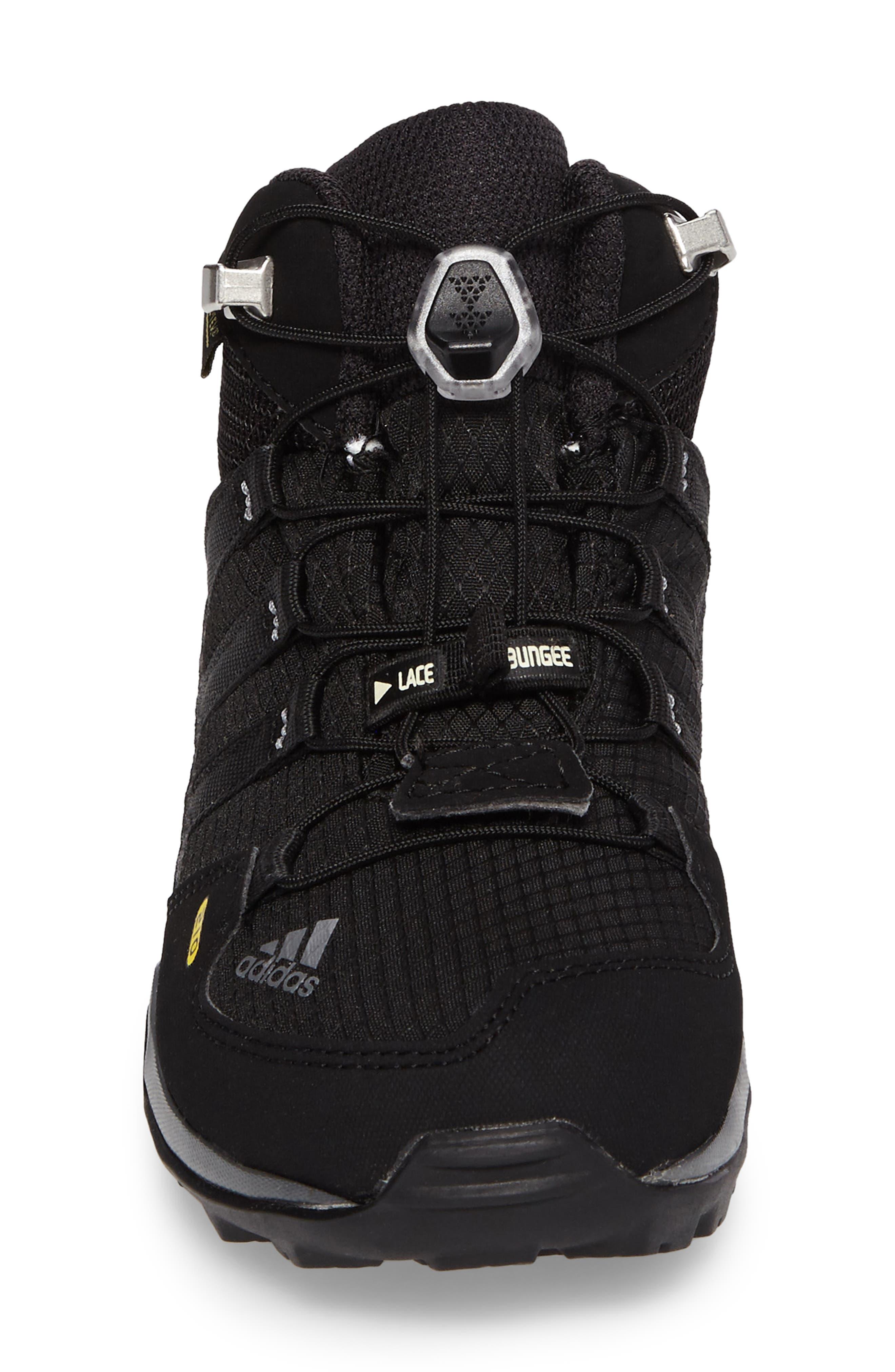 Terrex Mid Gore-Tex<sup>®</sup> Insulated Waterproof Sneaker Boot,                             Alternate thumbnail 4, color,                             Black/ Black/ Vista Grey