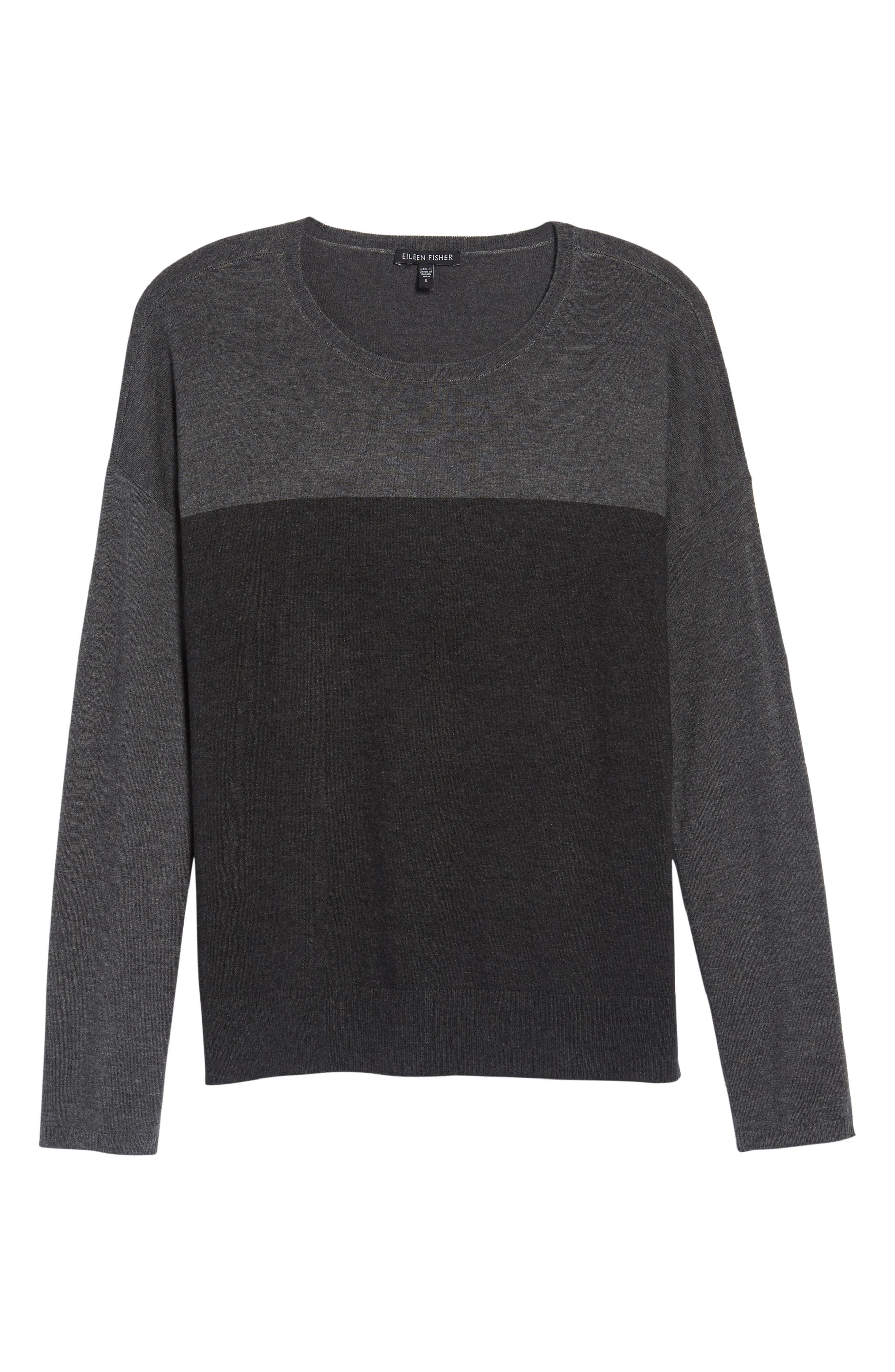 Alternate Image 6  - Eileen Fisher Round Neck Box Sweater