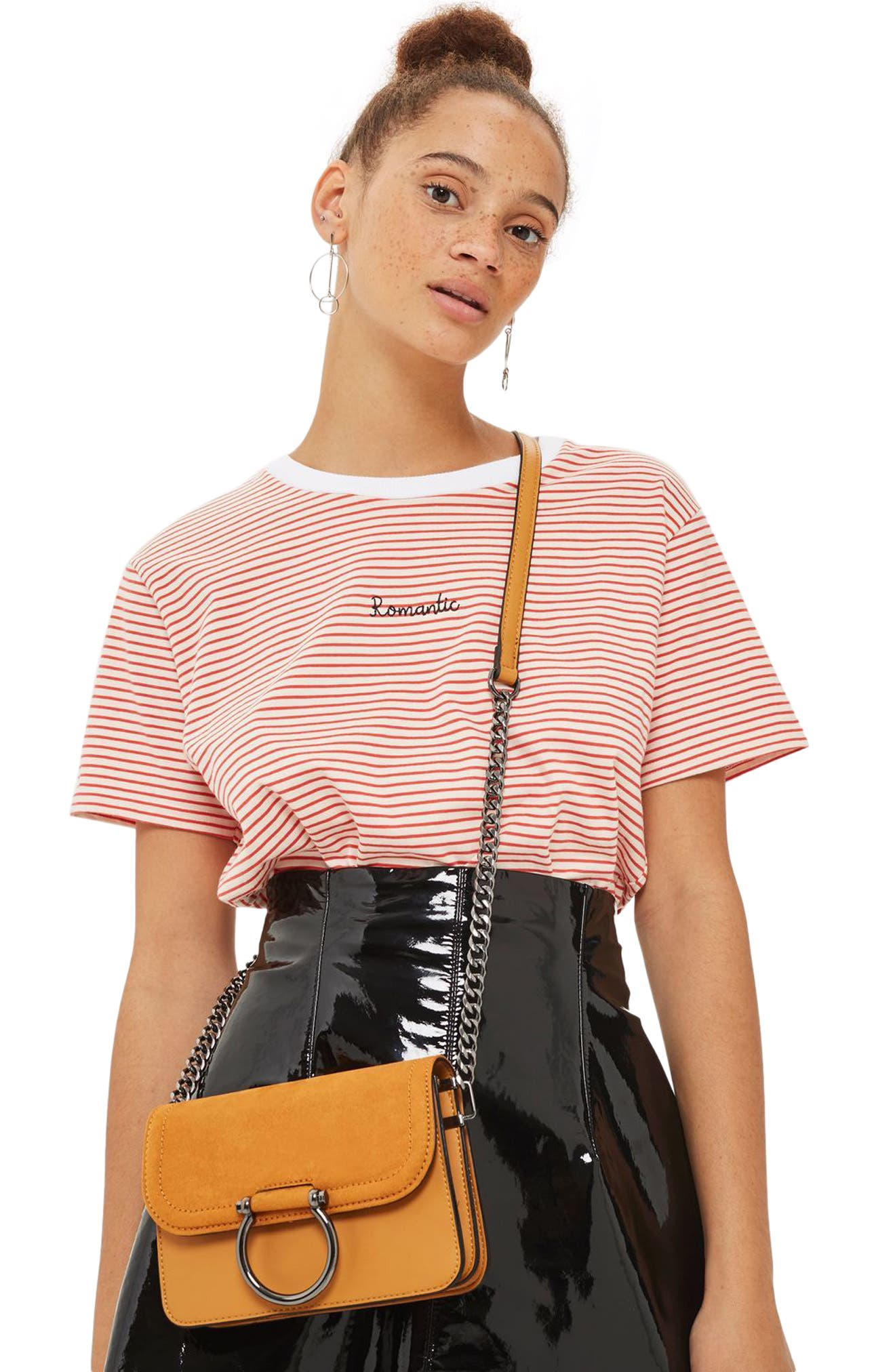 Alternate Image 2  - Topshop Remy Trophy Faux Leather Crossbody Bag