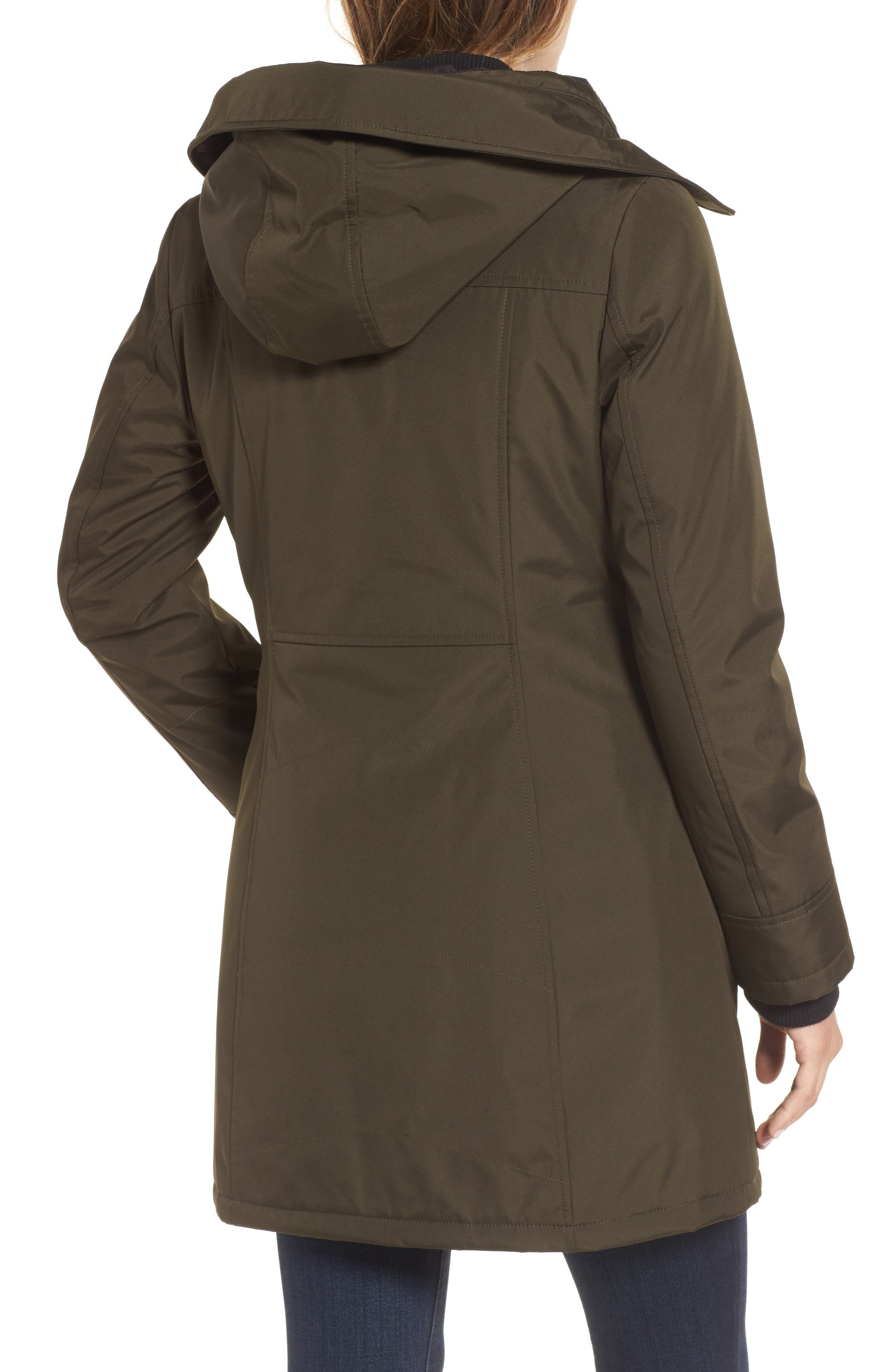 Quilted Techno Parka,                             Alternate thumbnail 2, color,                             Olive