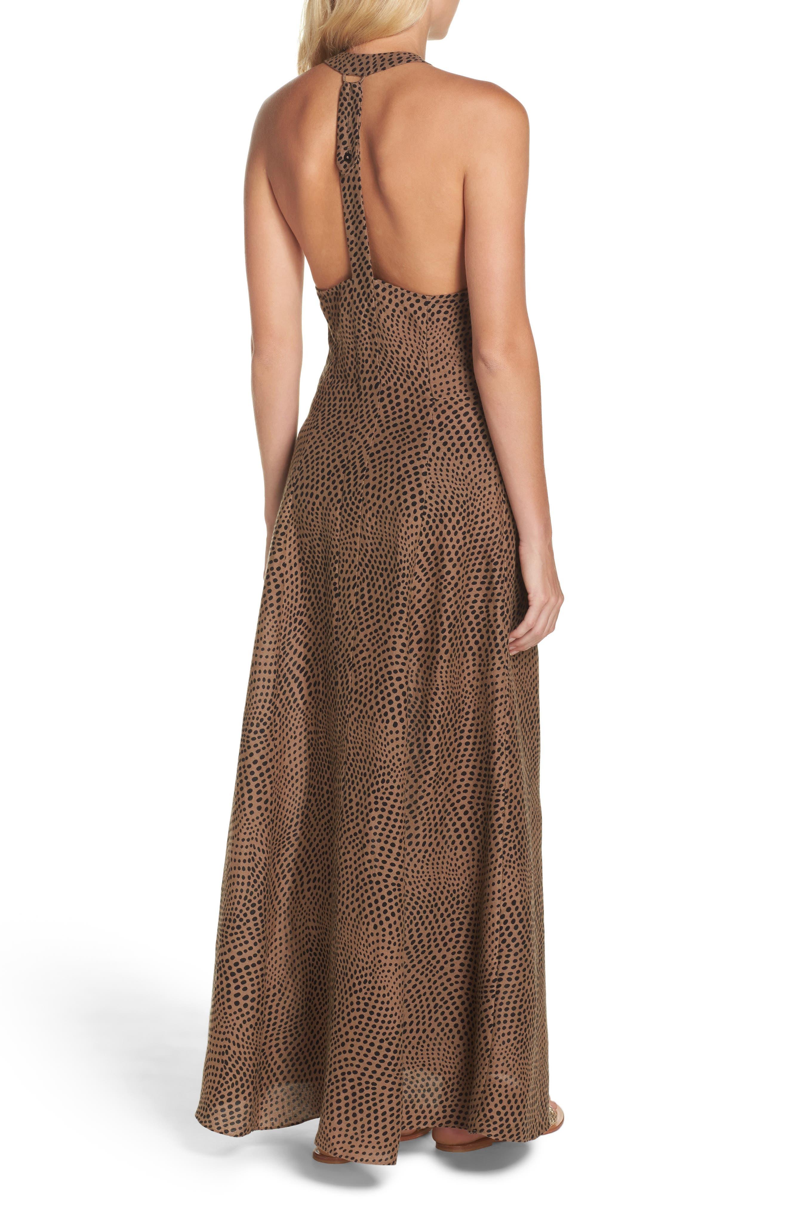 Sleeveless Cover-Up Dress,                             Alternate thumbnail 2, color,                             Easton Dot Clay