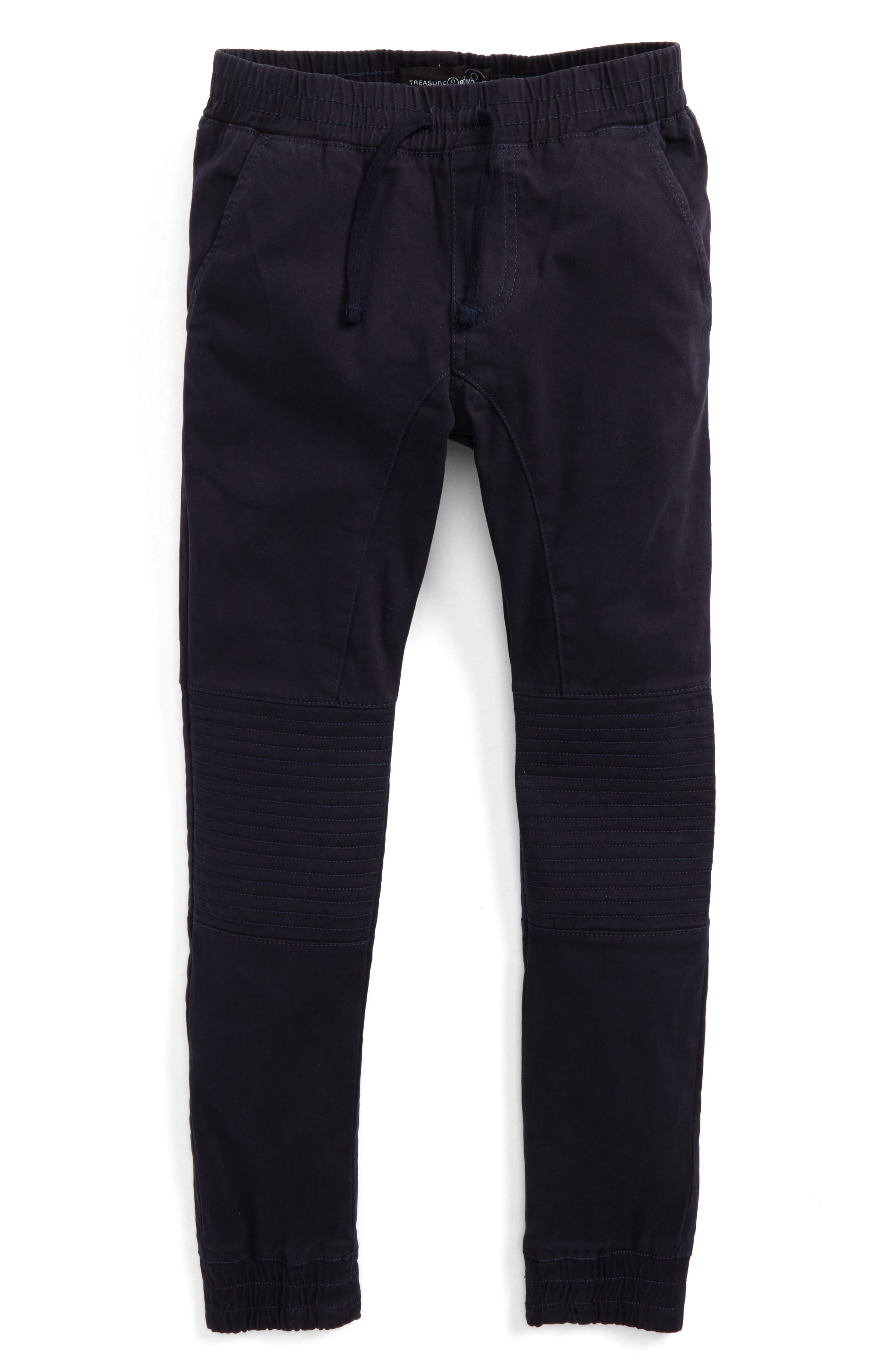 Moto Jogger Pants,                         Main,                         color, Navy Night