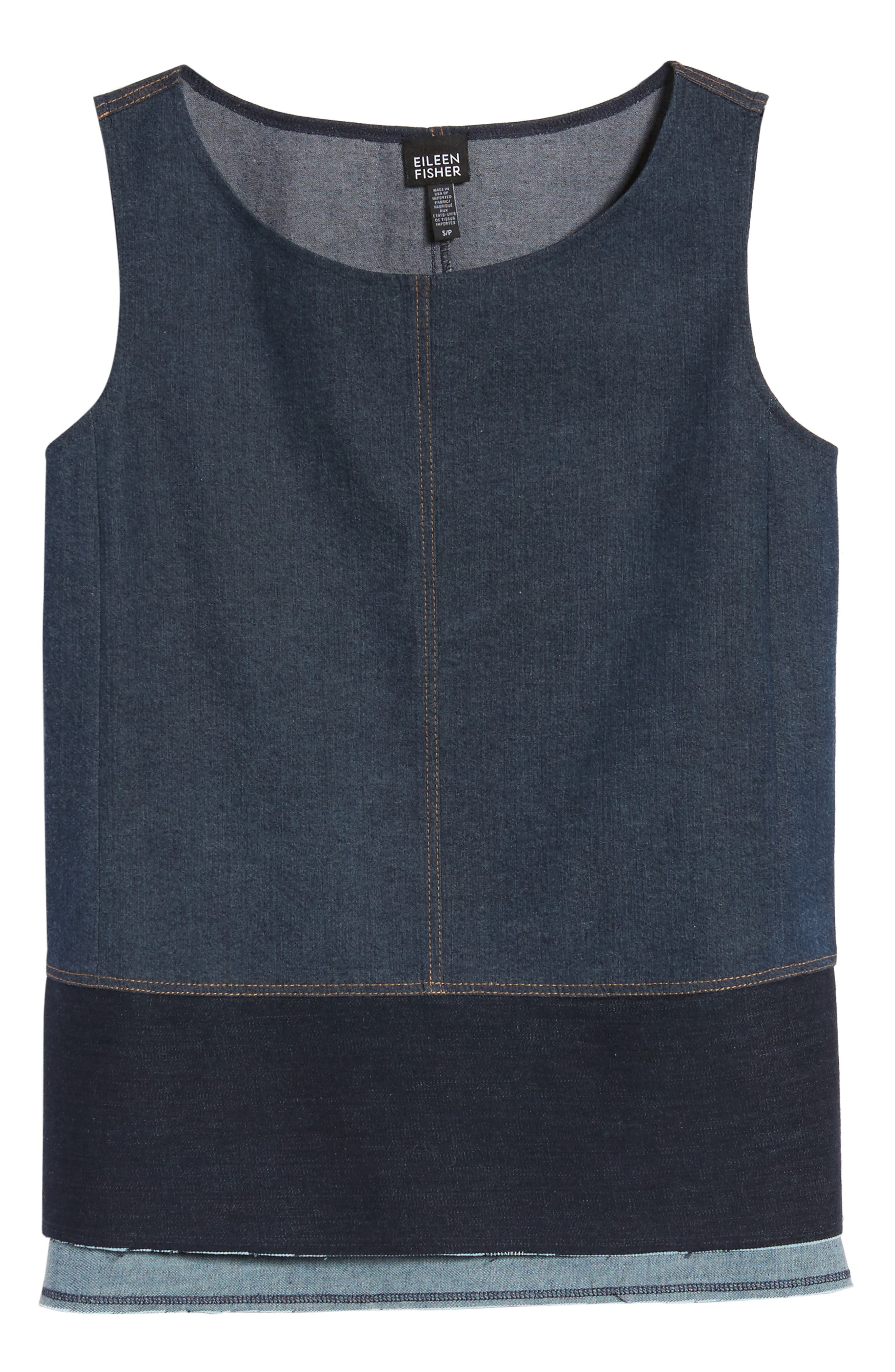 Alternate Image 6  - Eilen Fisher Denim Shell (Nordstrom Exclusive)