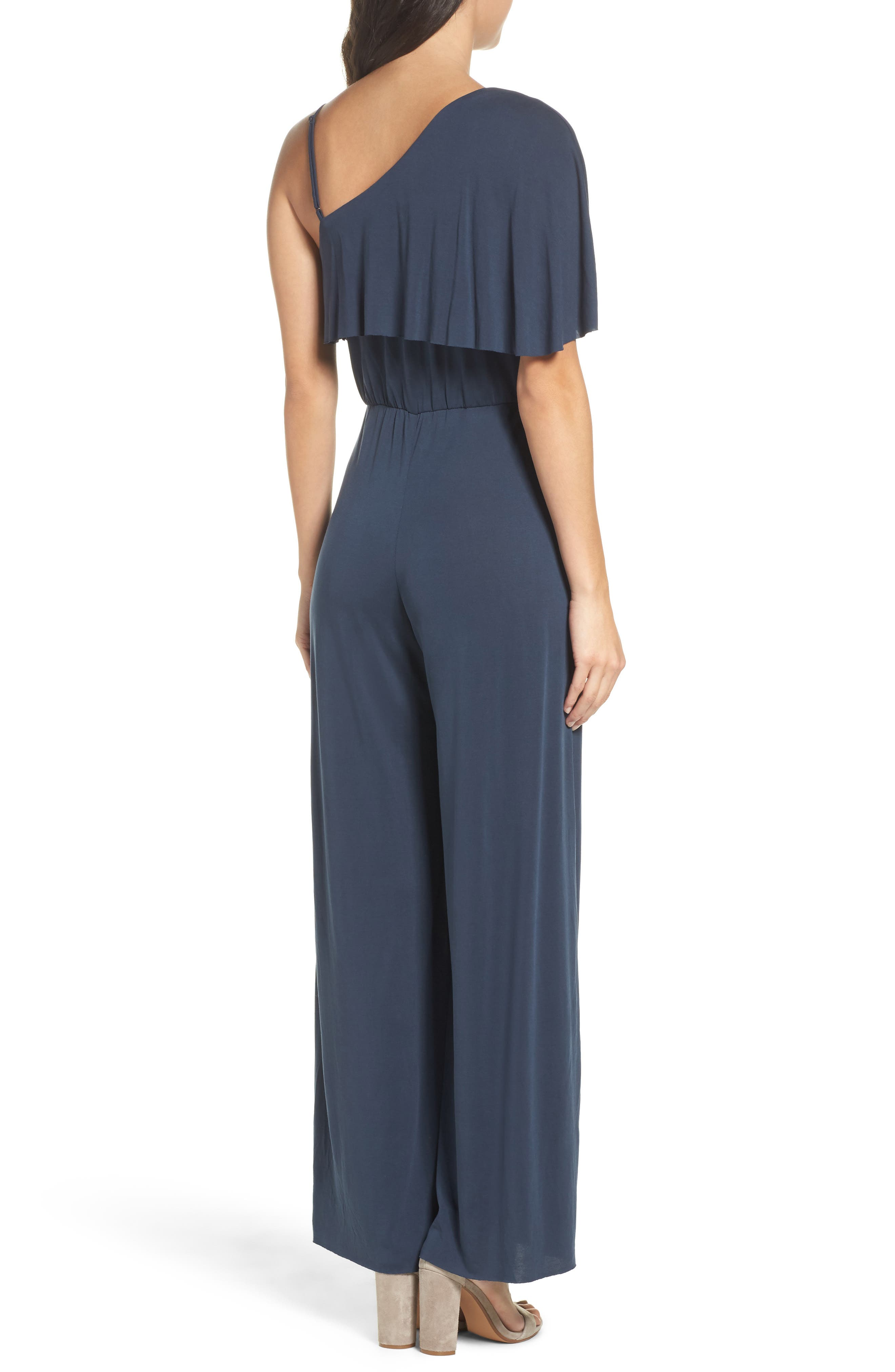 Alternate Image 2  - NSR One-Shoulder Jumpsuit