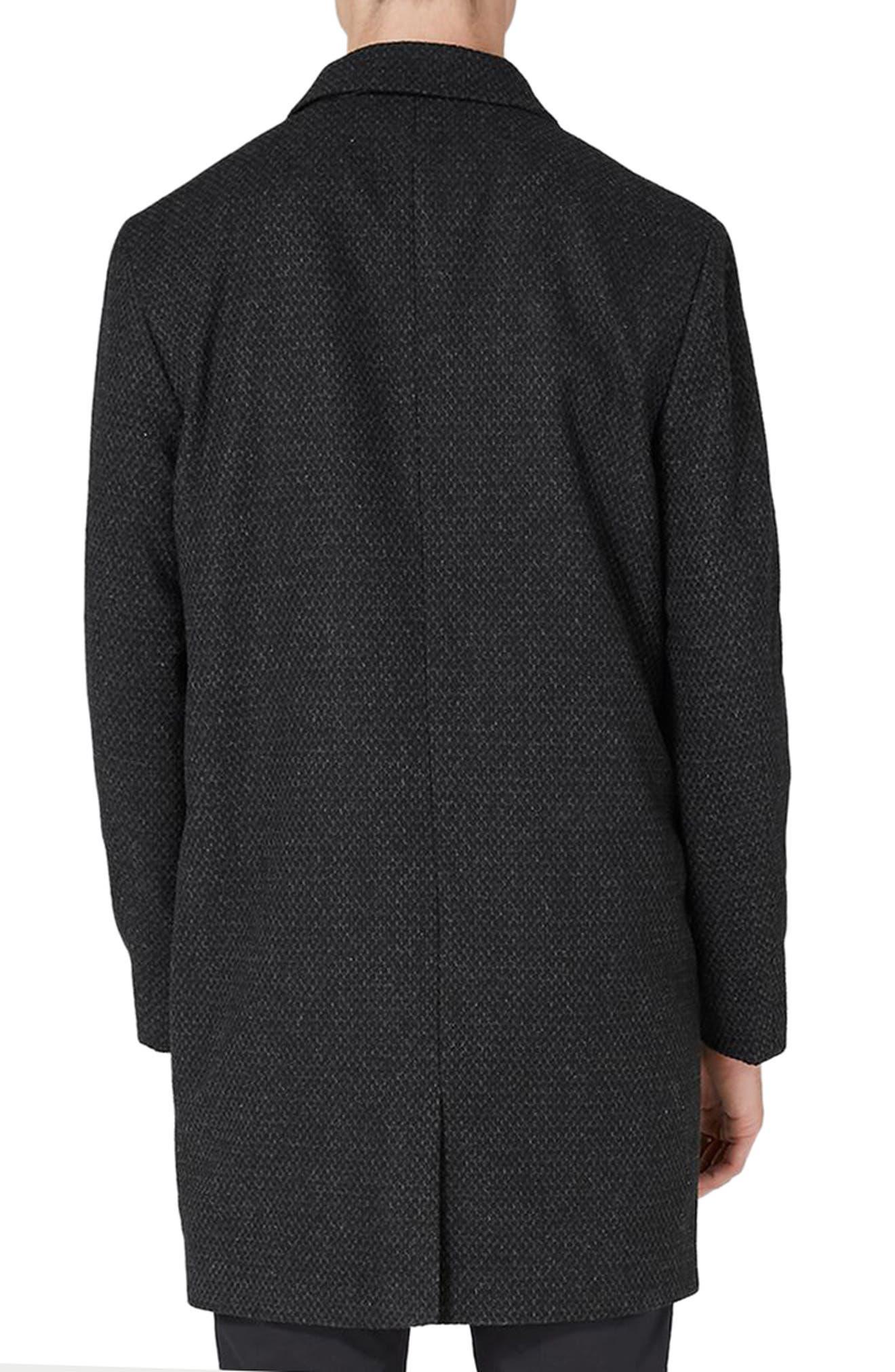 Alternate Image 2  - Topman Textured Overcoat