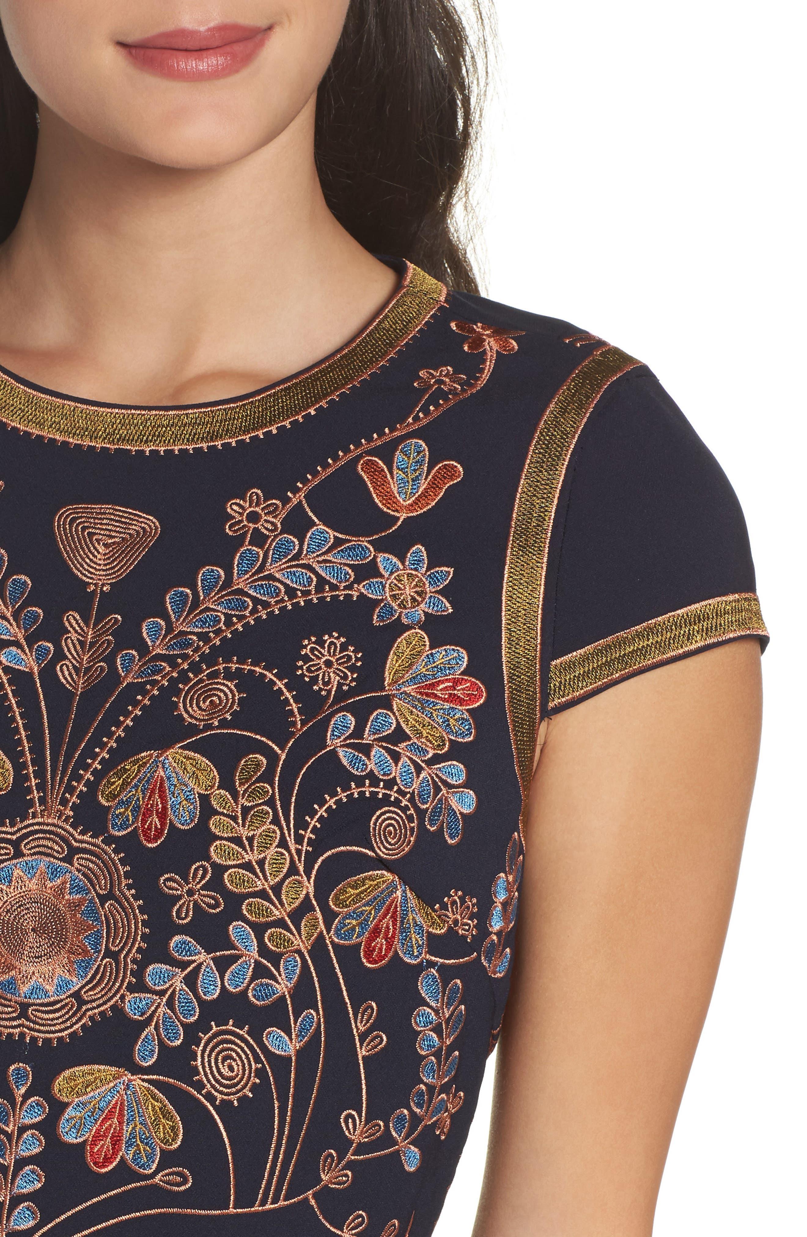 Alternate Image 4  - Foxiedox Hadiya Embroidered A-Line Dress