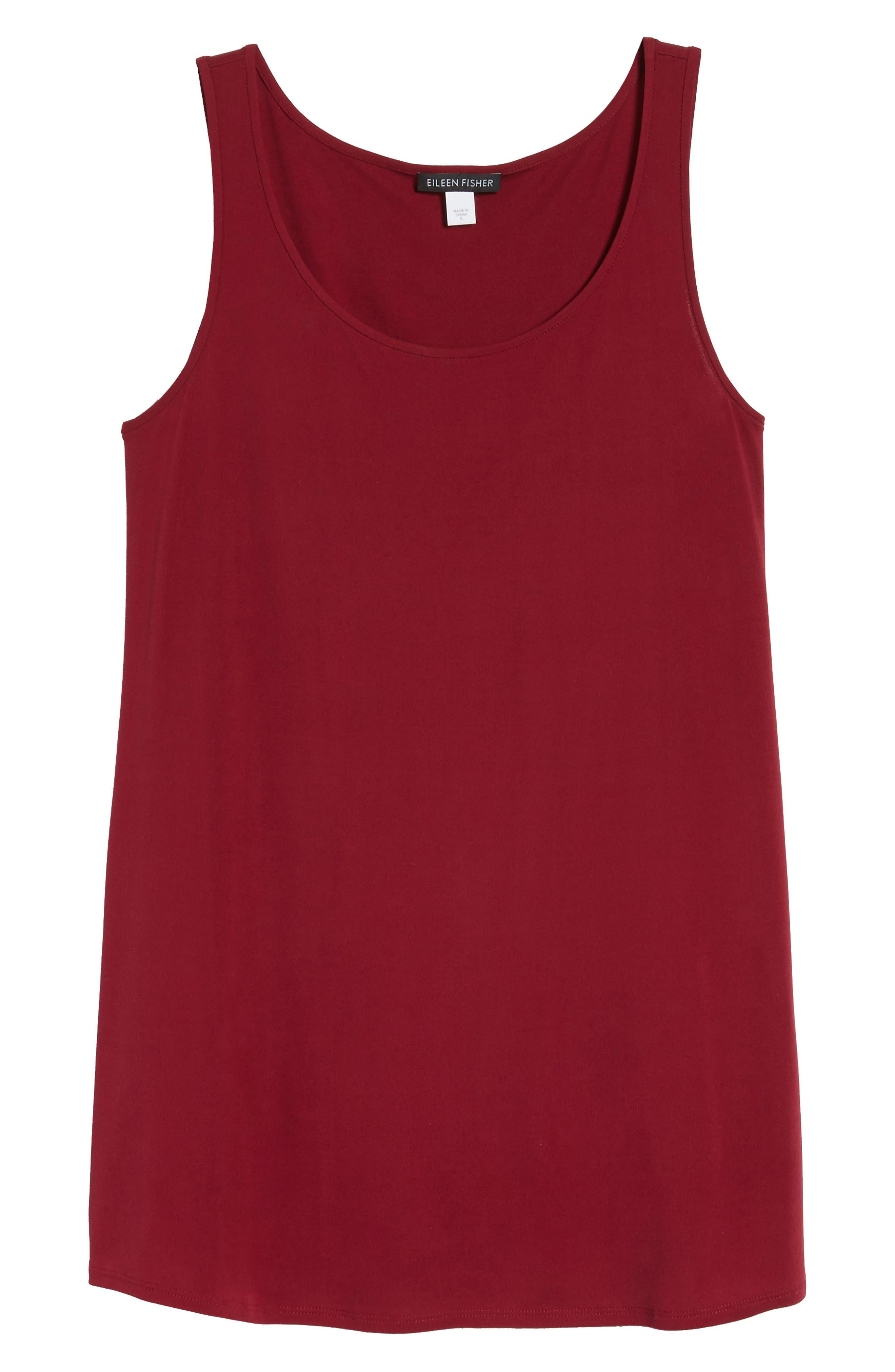 Alternate Image 6  - Eileen Fisher Long Silk Tank (Regular & Petite)