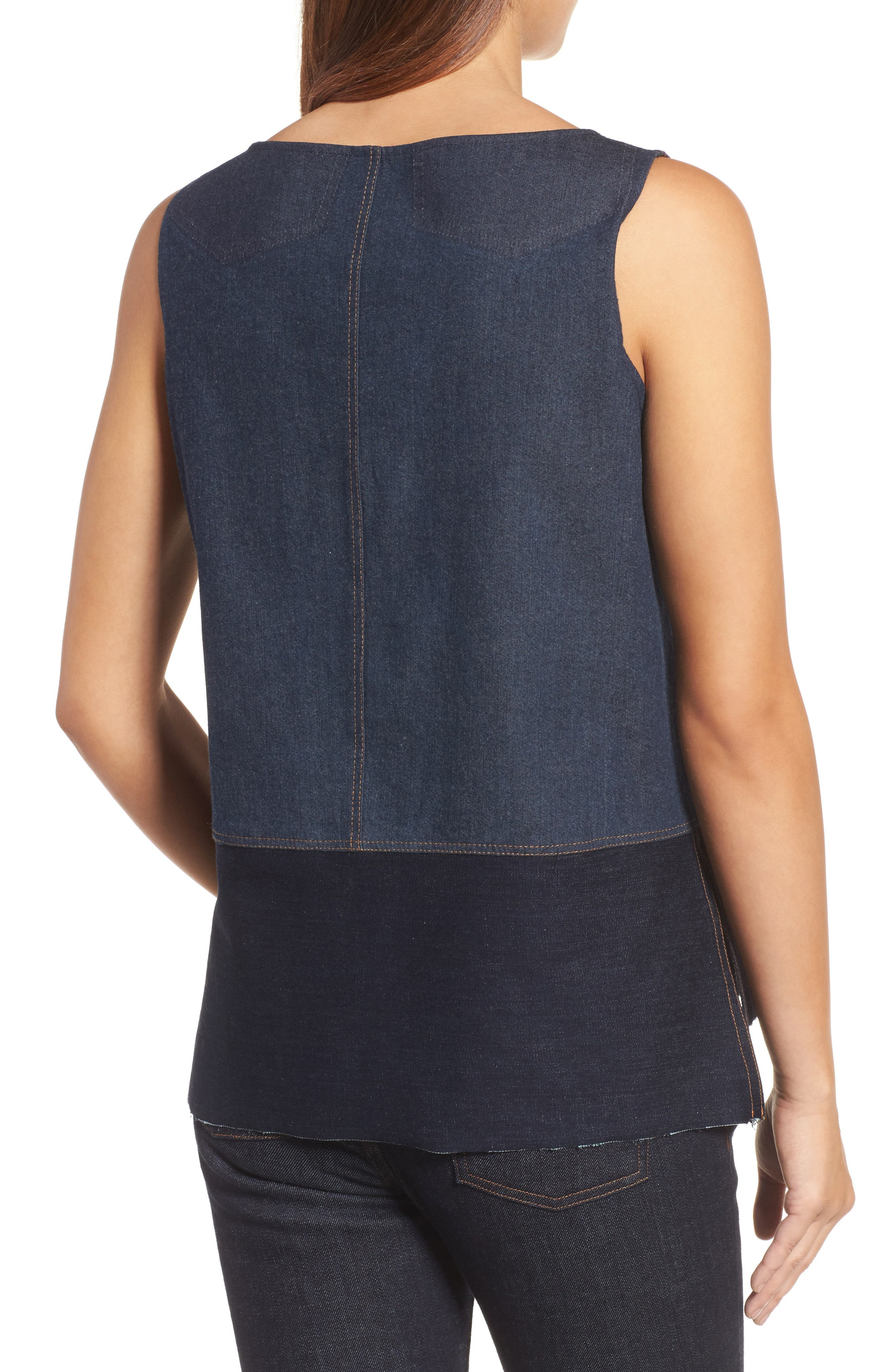 Alternate Image 2  - Eilen Fisher Denim Shell (Nordstrom Exclusive)