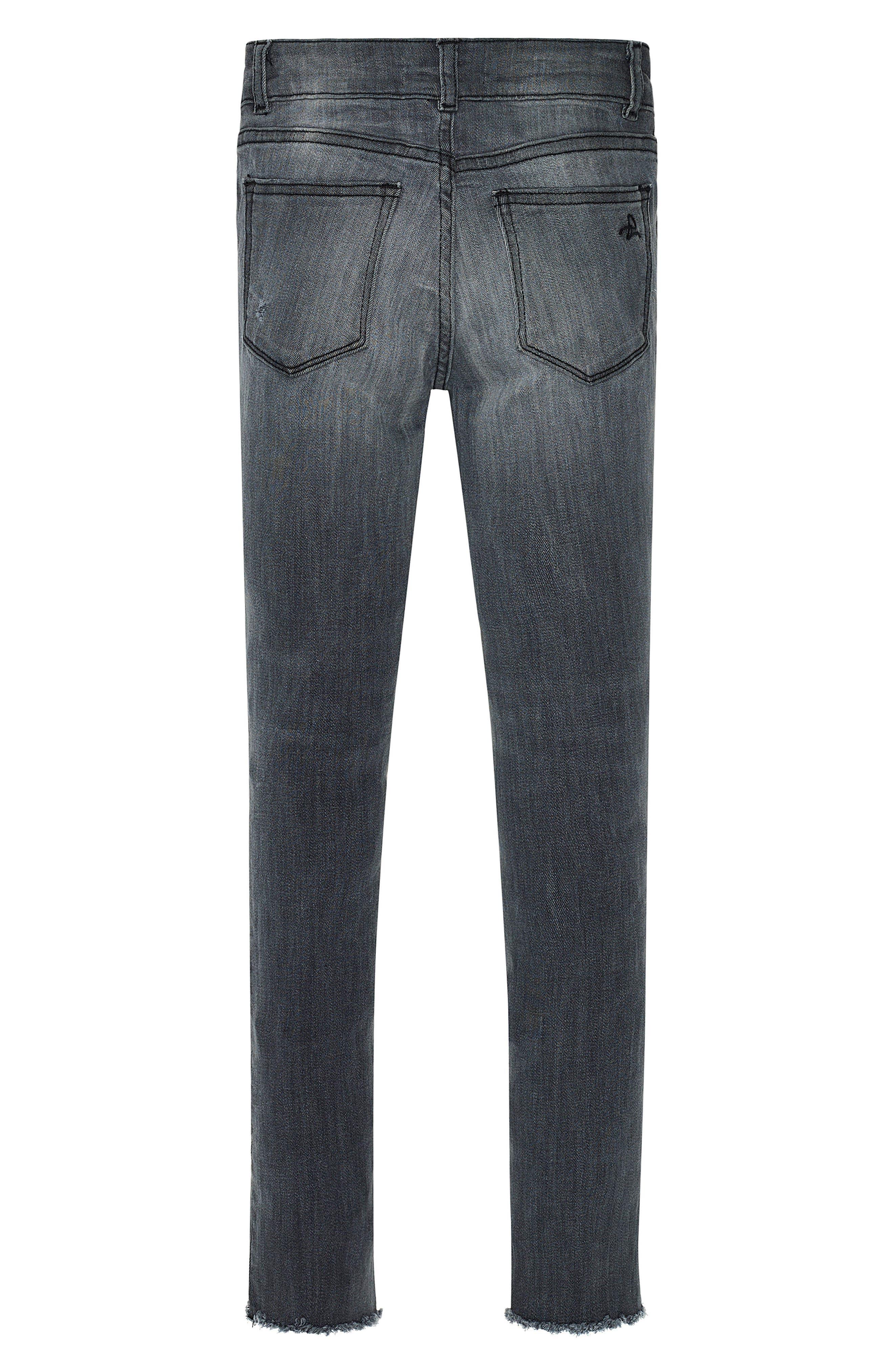 Alternate Image 2  - DL1961 Chloe Raw Hem Skinny Jeans (Big Girls)