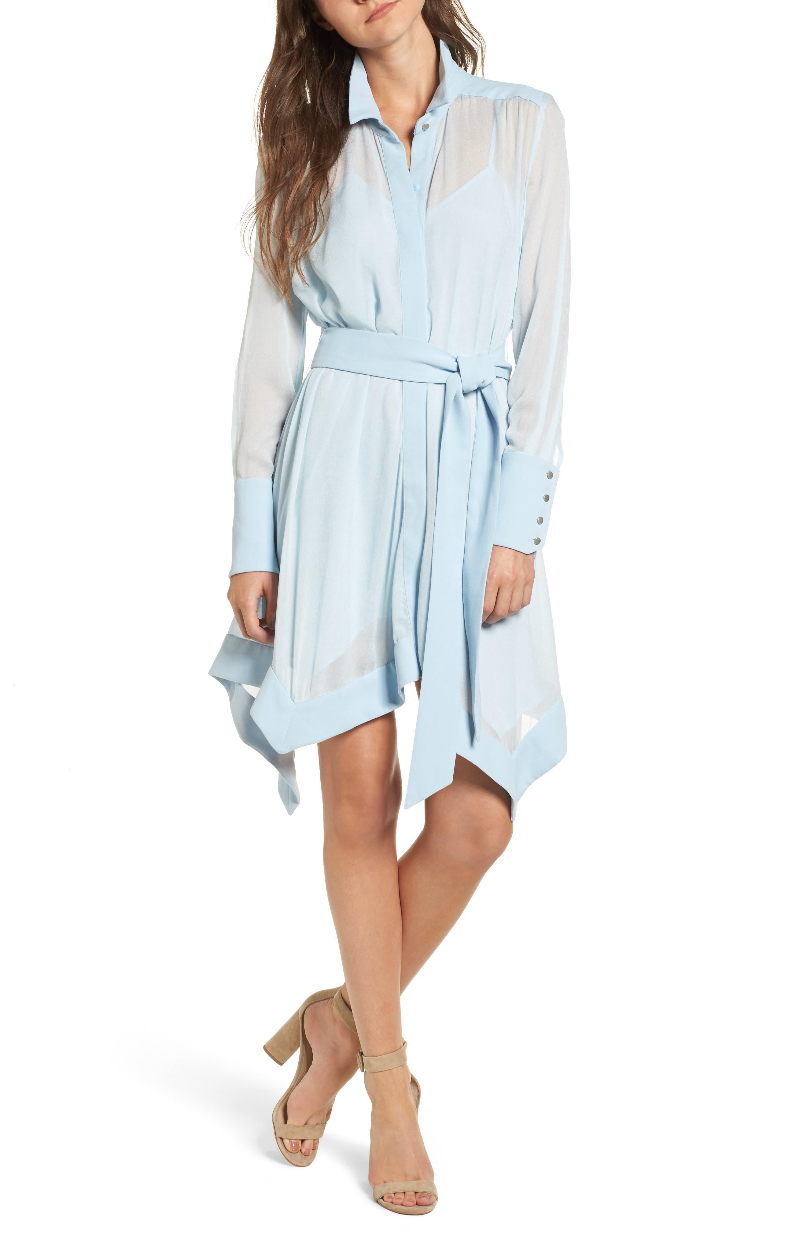 Liberty Shirtdress,                         Main,                         color, Cornflower Blue