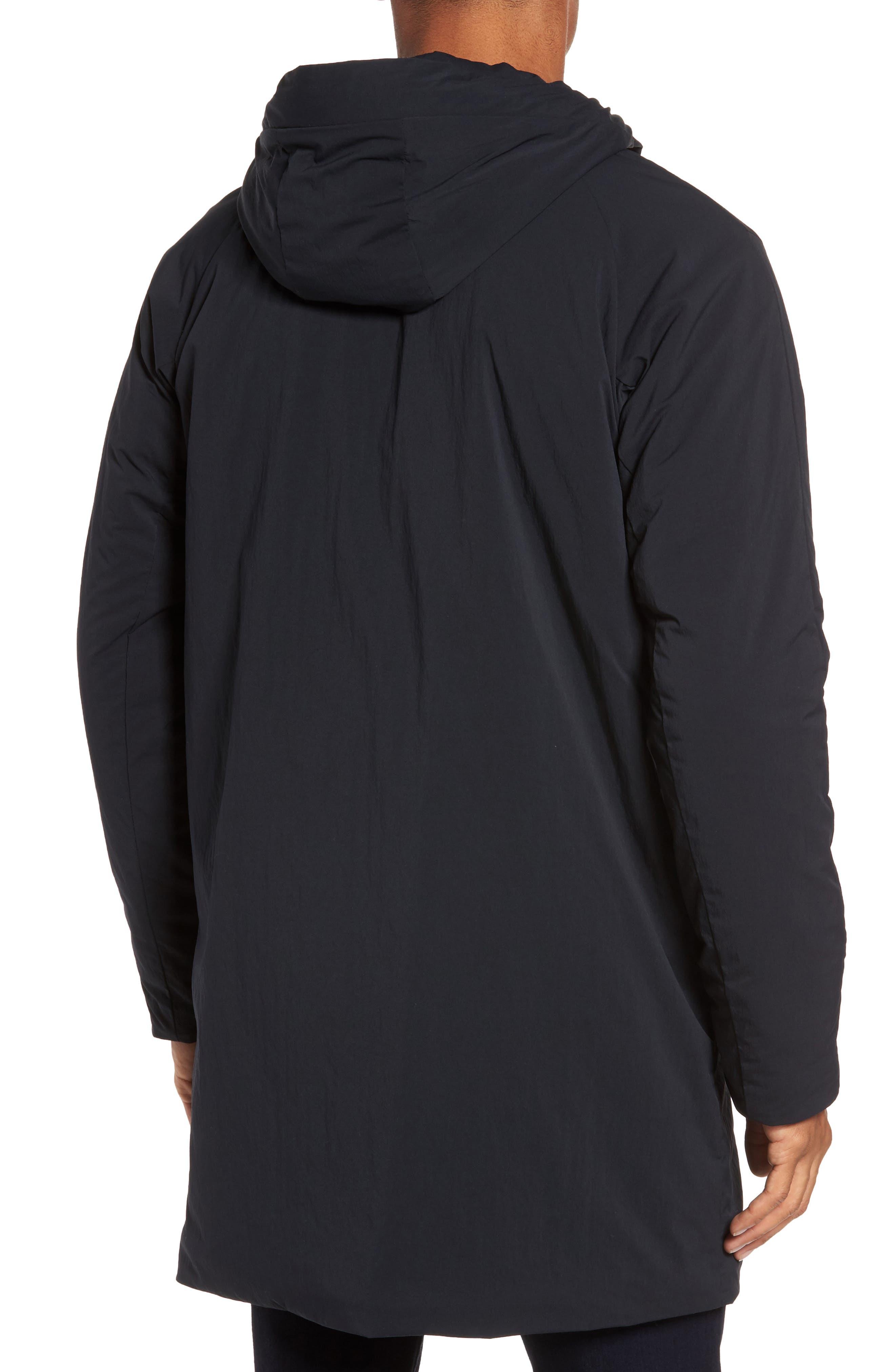 Insulated Trim Sideline Jacket,                             Alternate thumbnail 2, color,                             Black