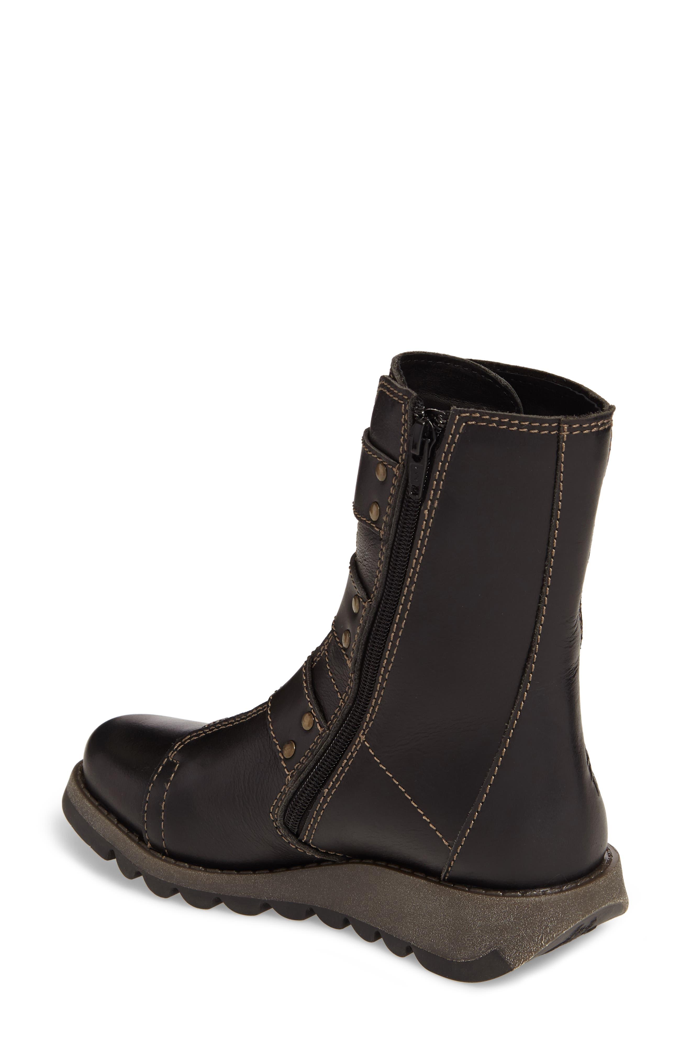 Scop Boot,                             Alternate thumbnail 2, color,                             Black Leather