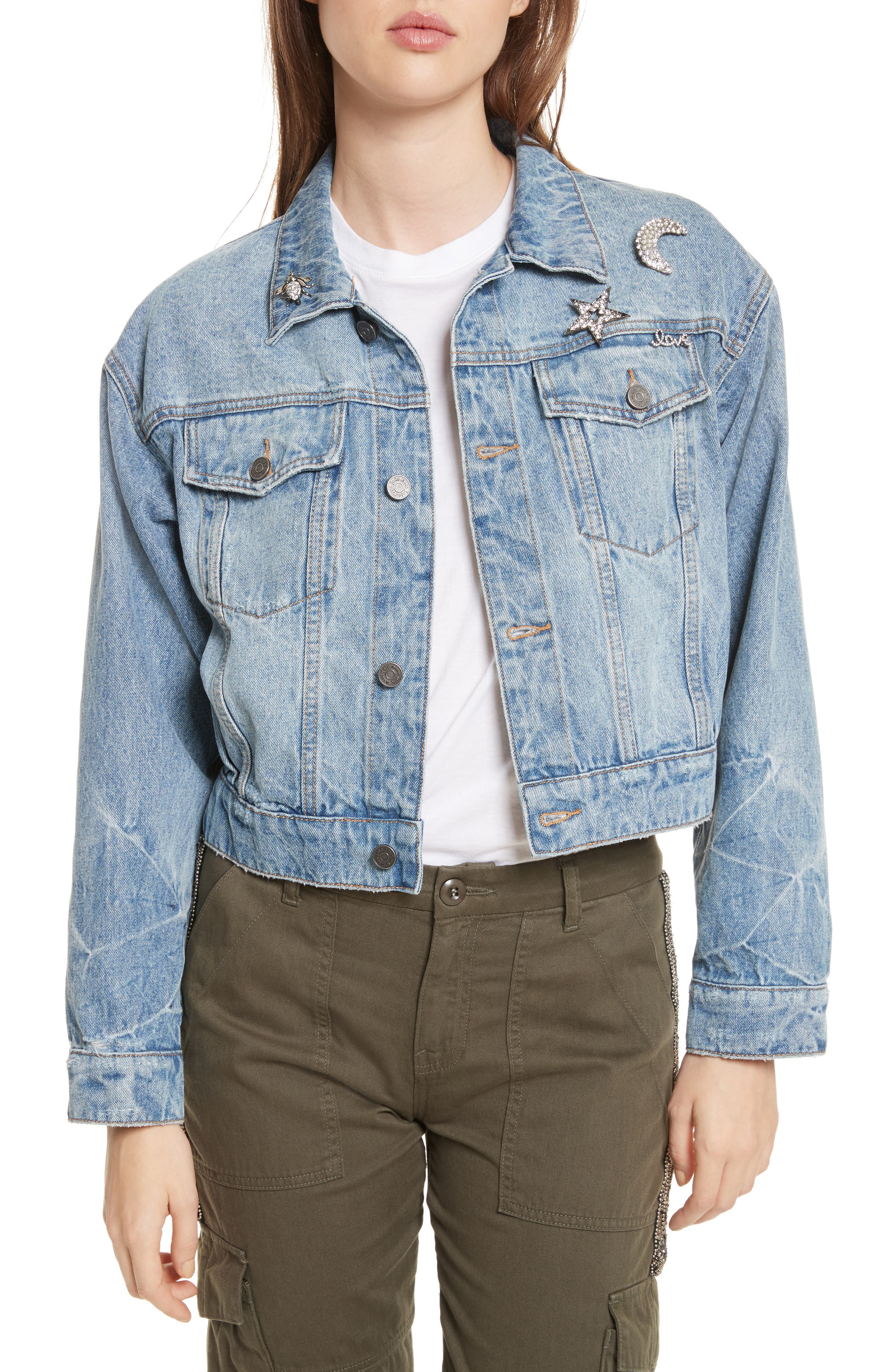 Main Image - Joie Redmondia Denim Jacket (Azzurro)