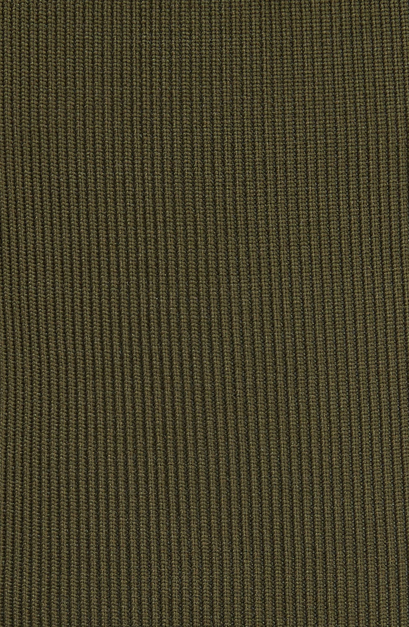 Lace-Up Knit Corset,                             Alternate thumbnail 5, color,                             Loden