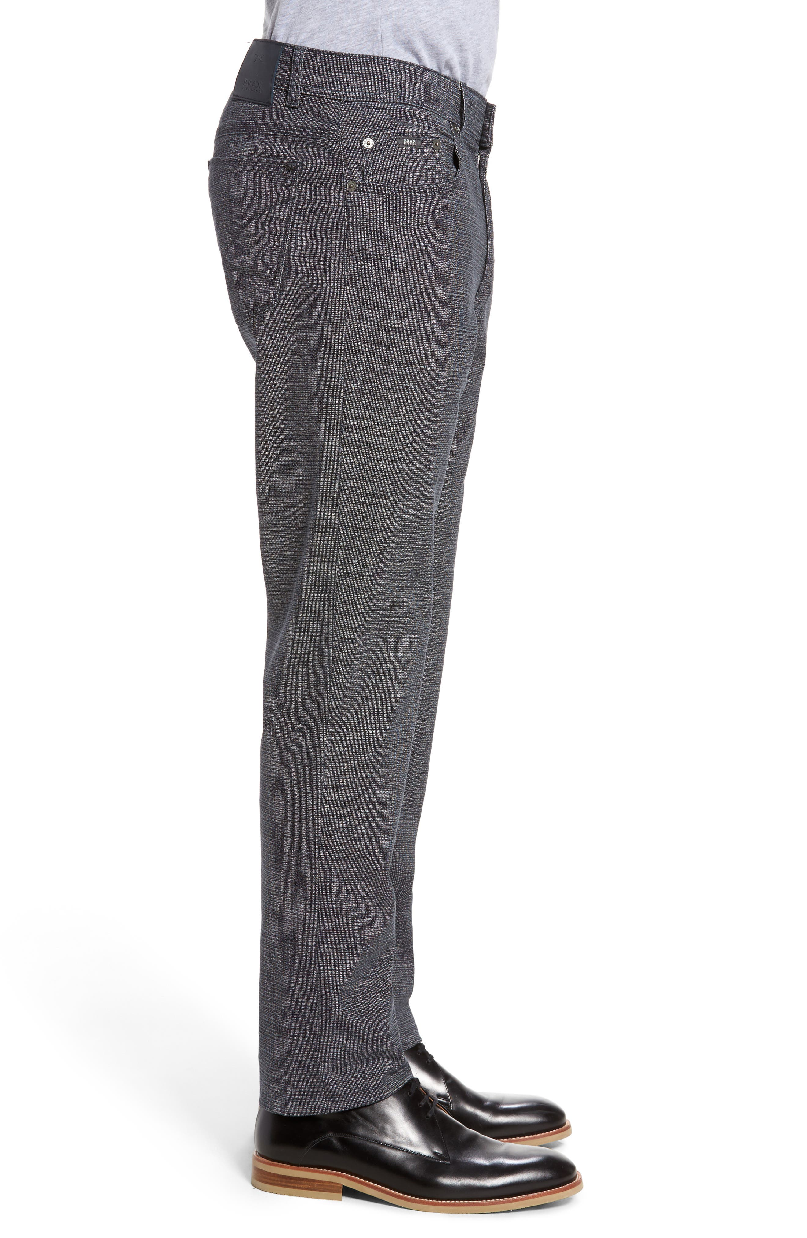 Cotton Blend Five-Pocket Trousers,                             Alternate thumbnail 3, color,                             Midnight