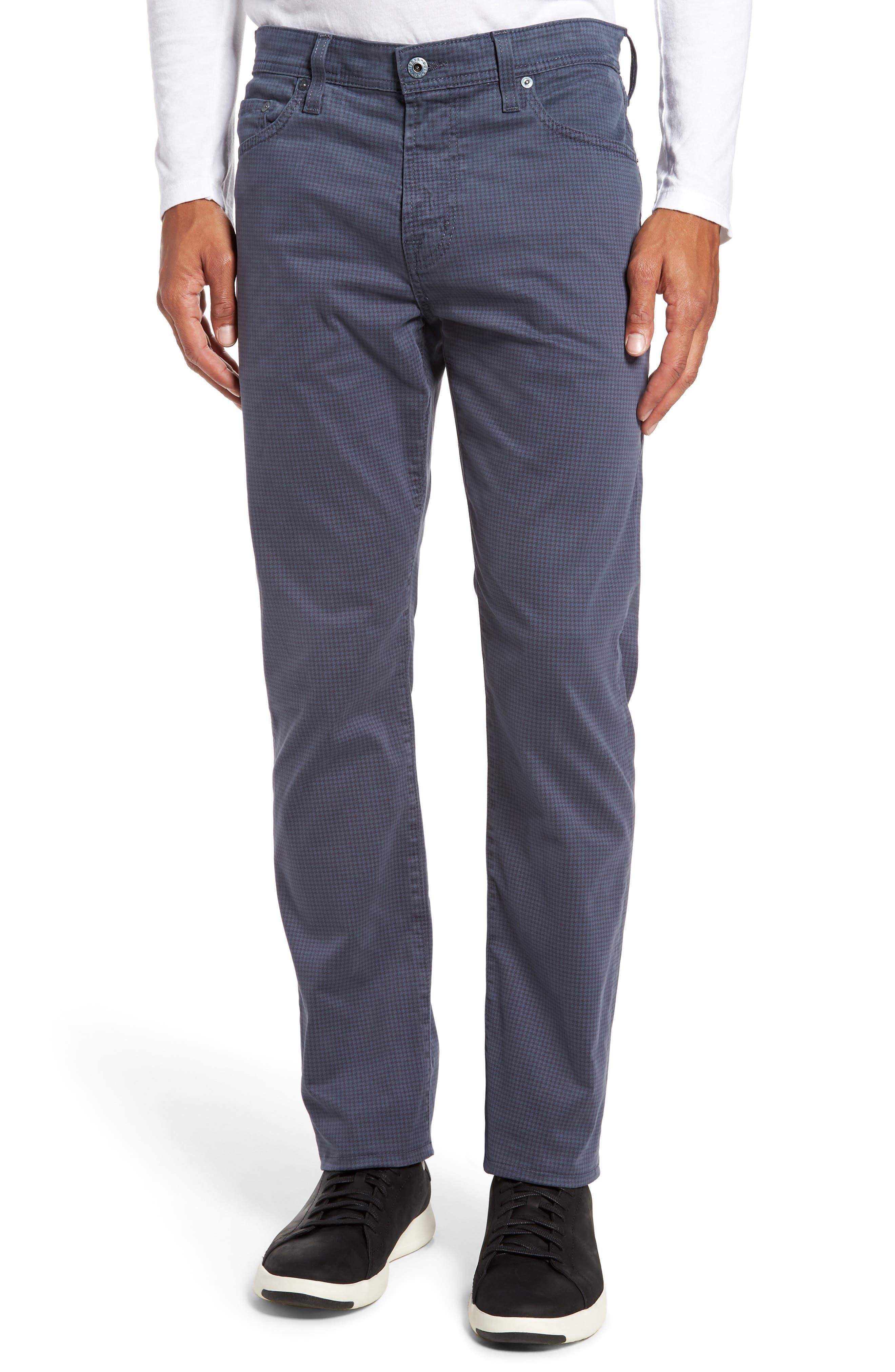Alternate Image 1 Selected - AG Houndstooth Everett SUD Straight Leg Pants