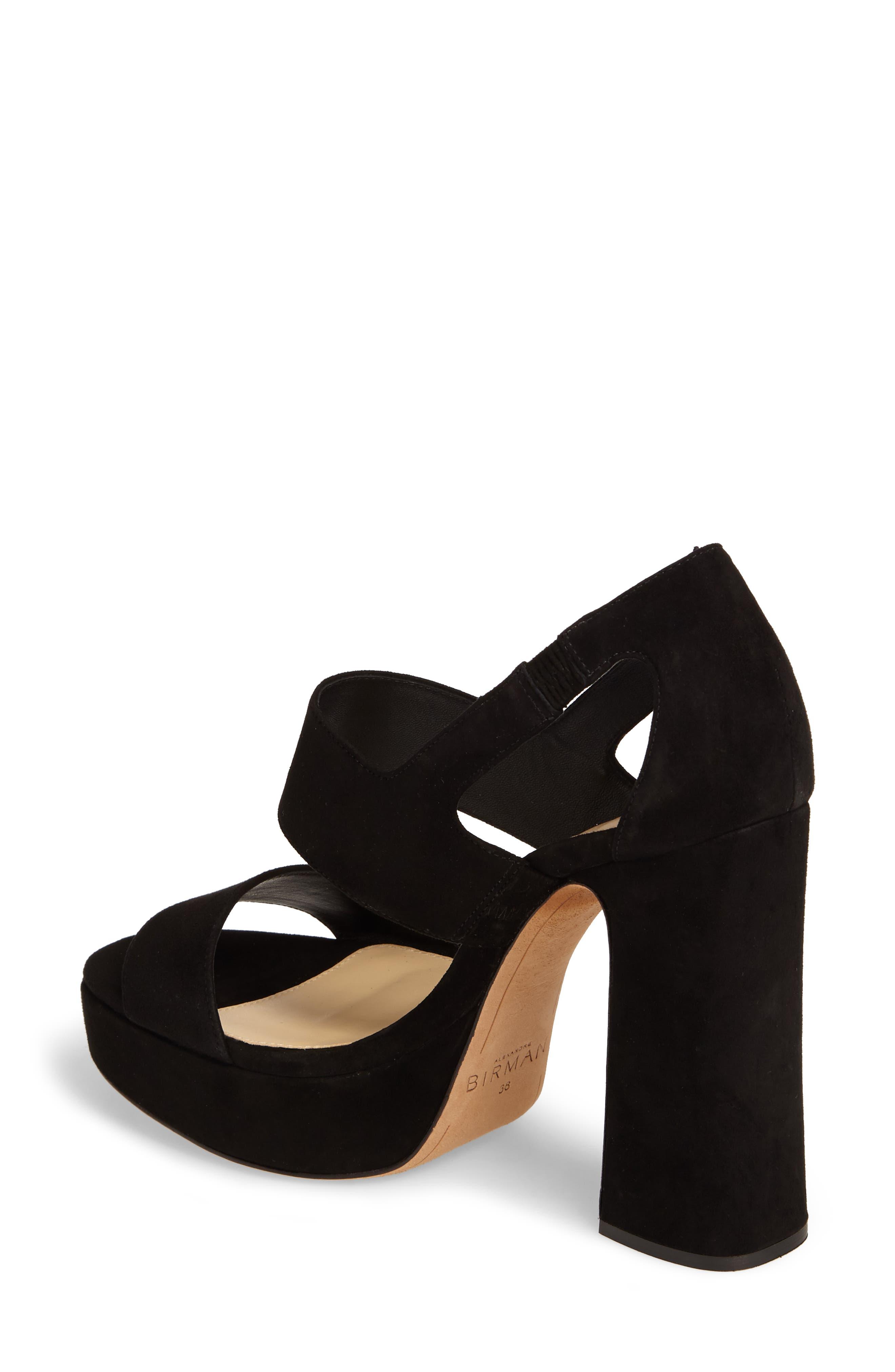 Elouise Platform Sandal,                             Alternate thumbnail 2, color,                             Black