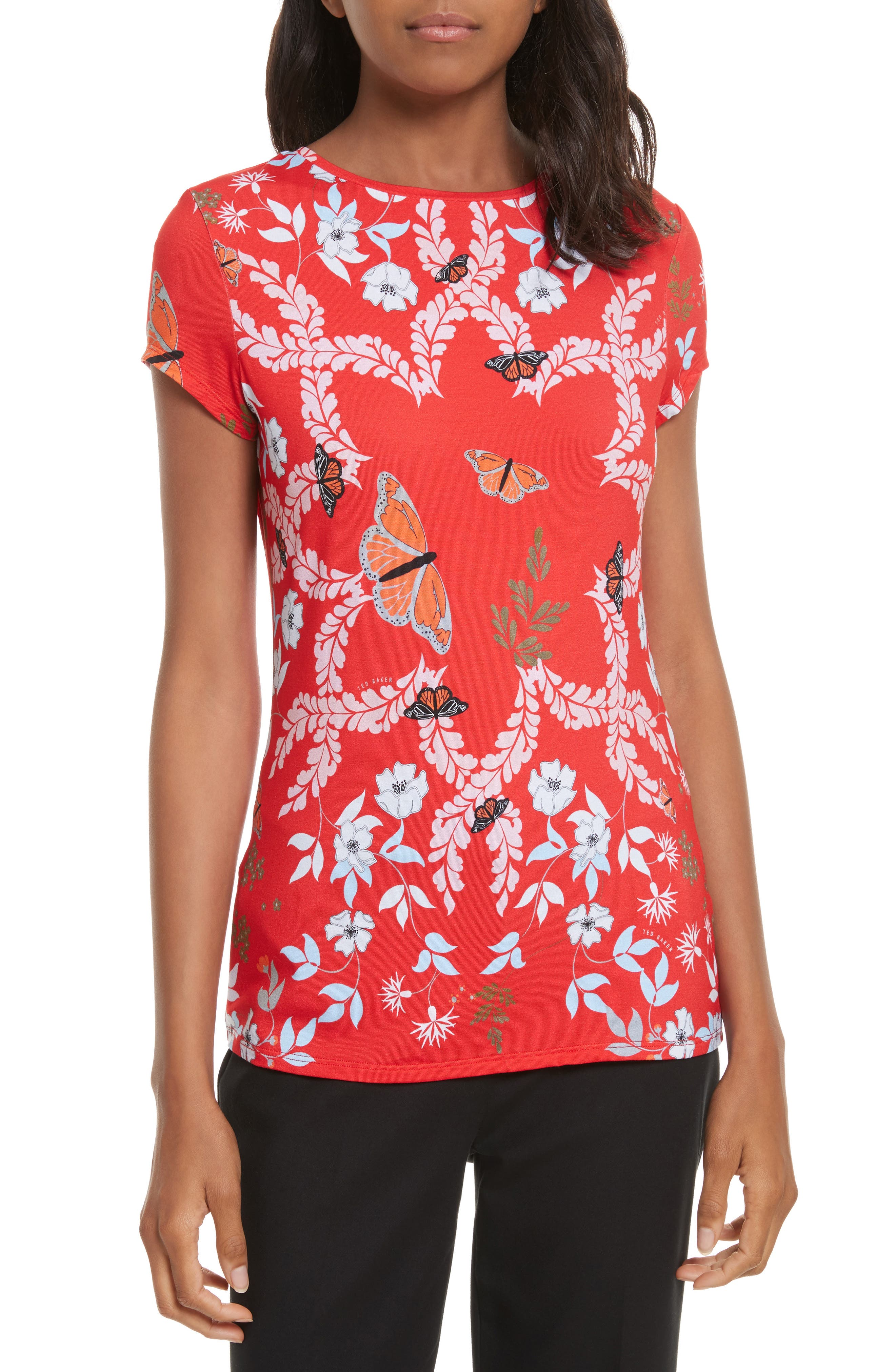 TED BAKER LONDON Pepa Kyoto Gardens Fitted Tee