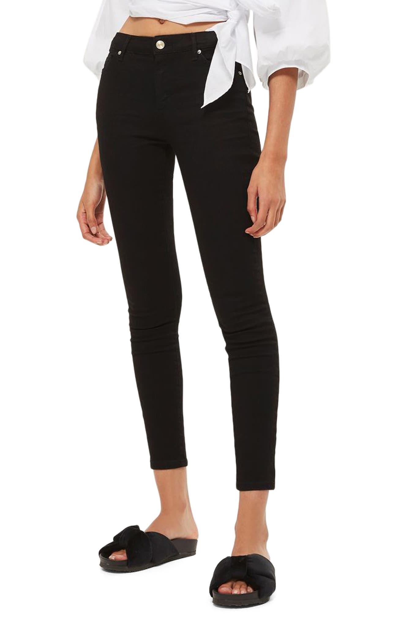 Sidney Skinny Jeans,                         Main,                         color, Black