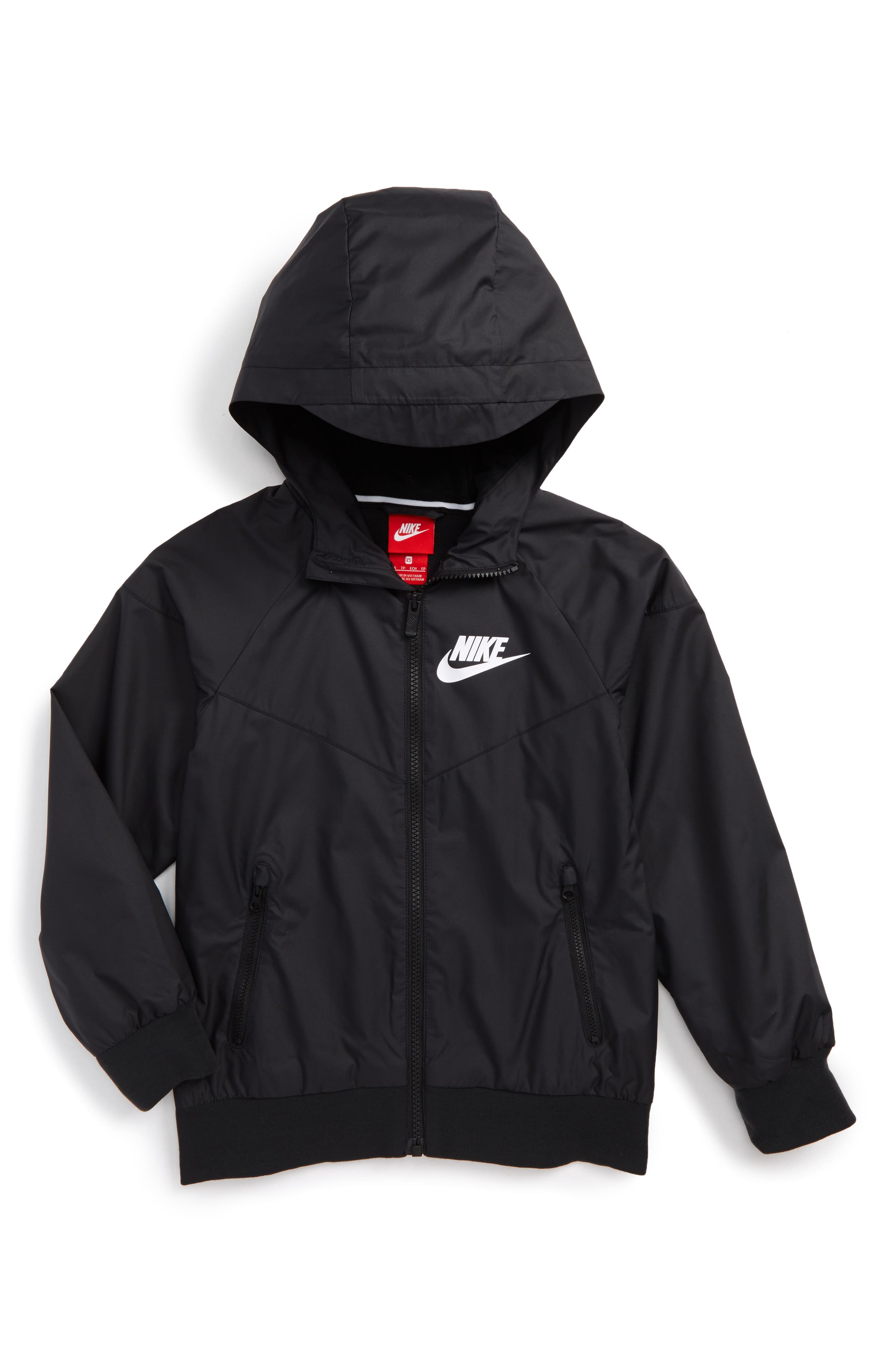 Nike Windrunner Water Resistant Hooded Jacket (Little Boys & Big Boys)