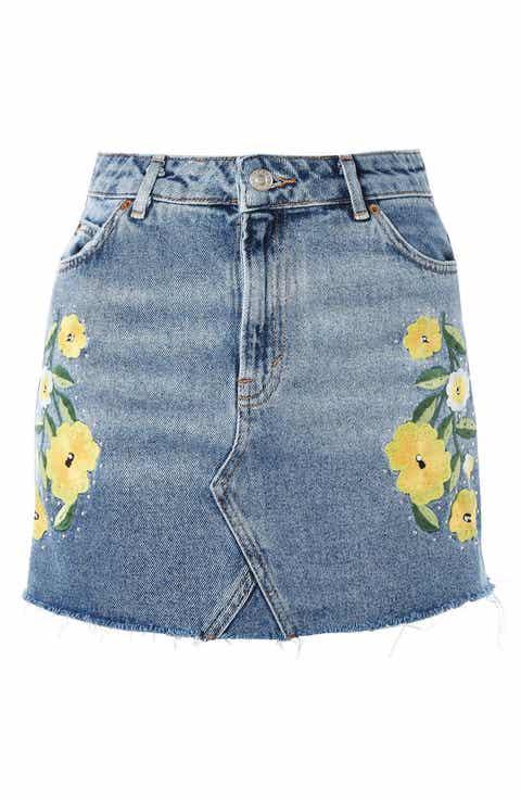 Women's Blue Denim Skirts | Nordstrom