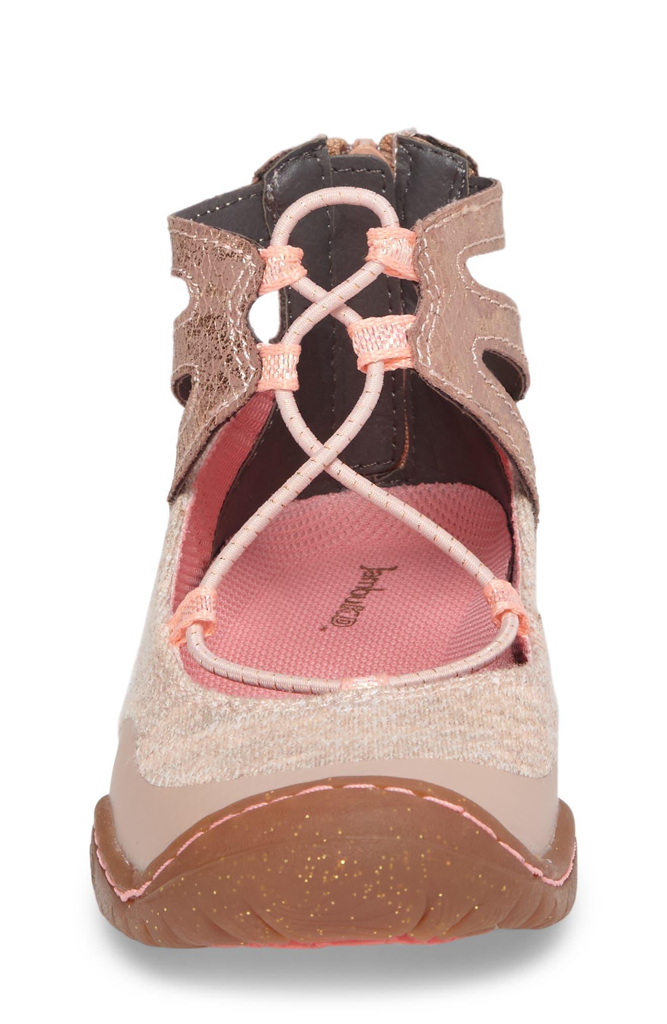 Pythera Glittery Ghillie Flat,                             Alternate thumbnail 4, color,                             Light Pink