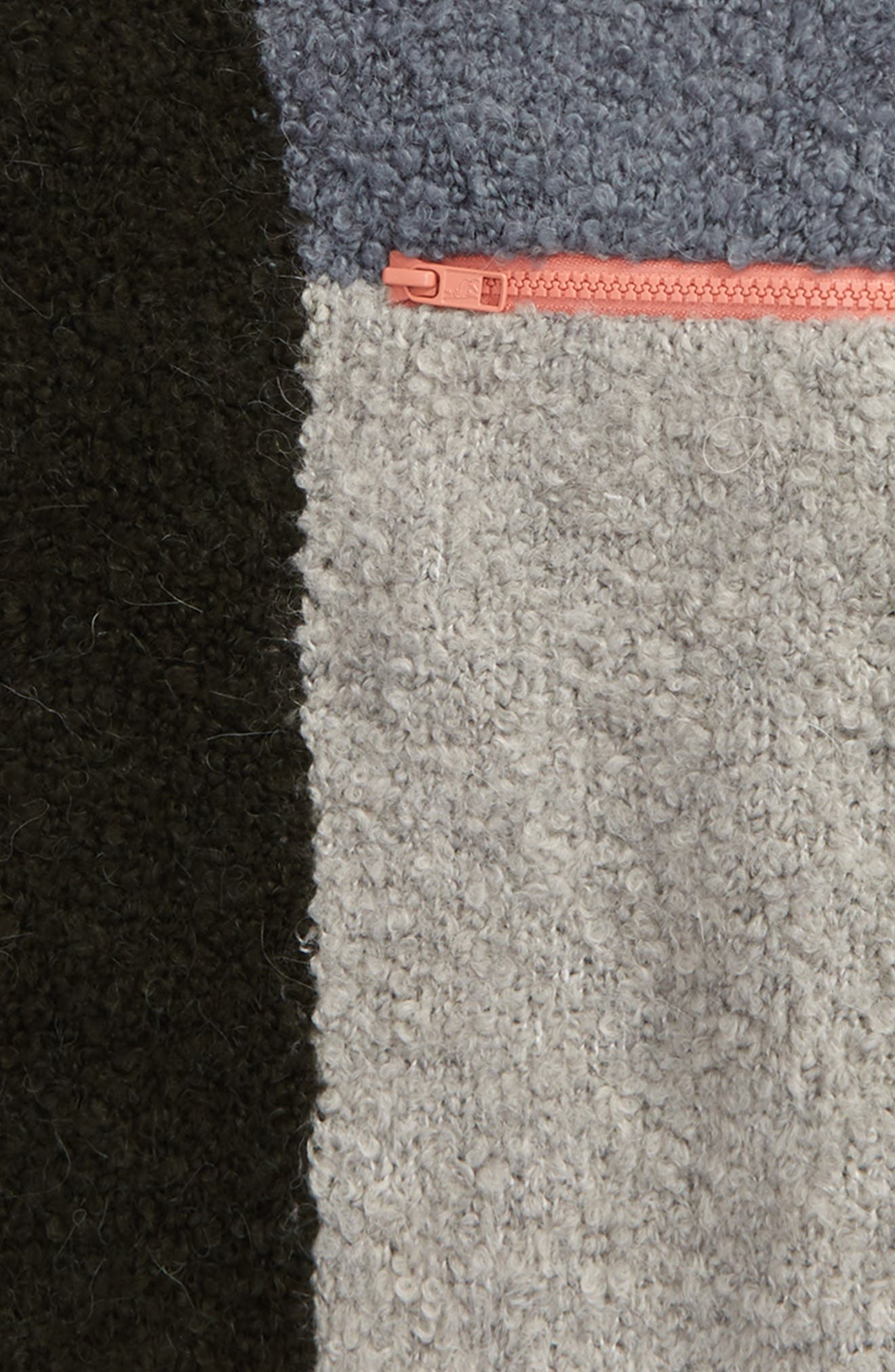 Kids Maya Colorblock Sweater,                             Alternate thumbnail 3, color,                             Petrol