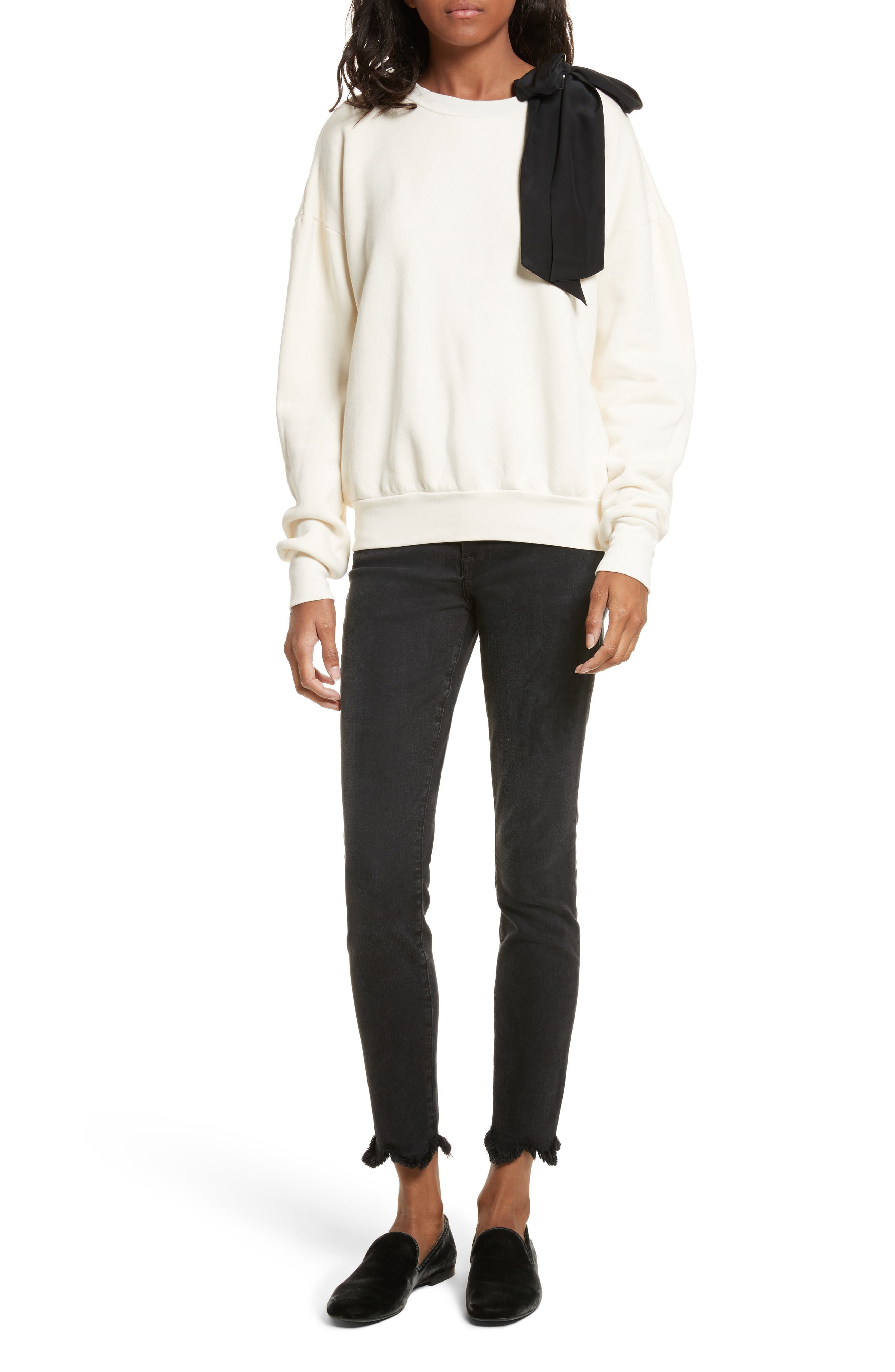 Alternate Image 2  - FRAME Le High Frayed Ankle Skinny Jeans (Whittier)