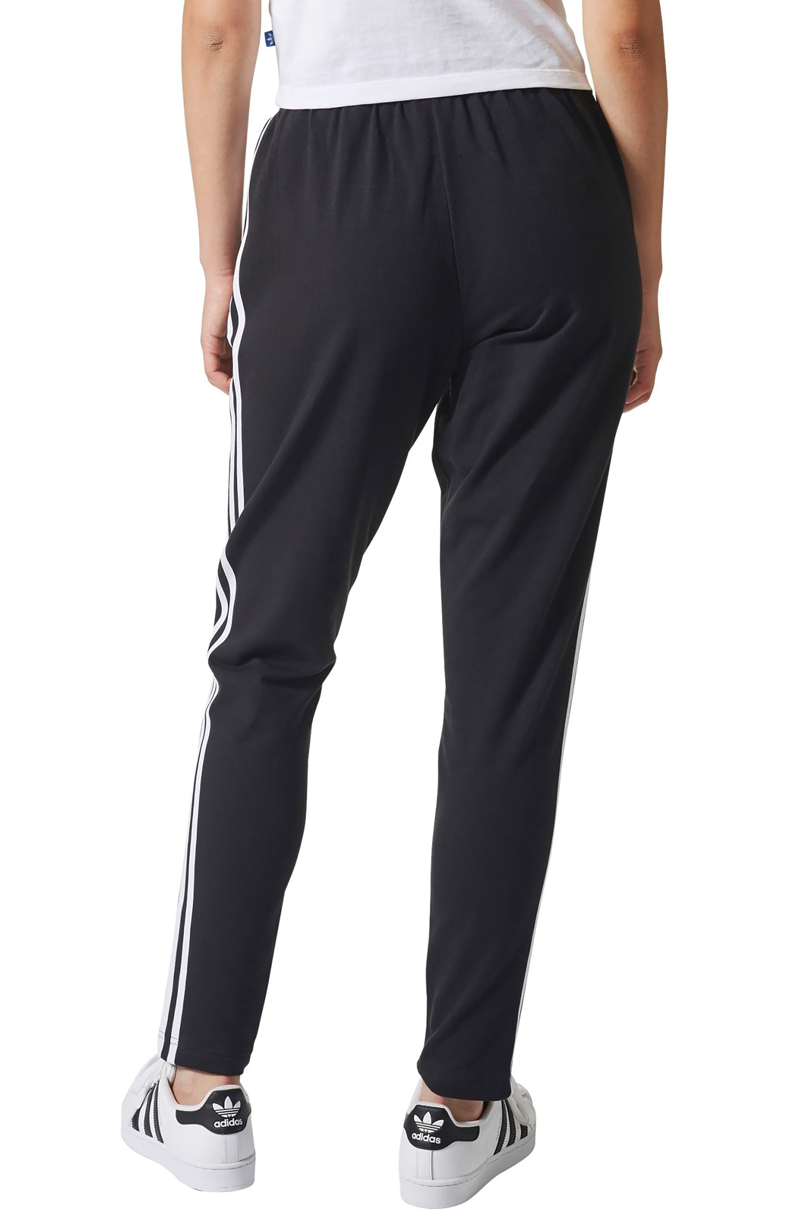 3-Stripes Tapered Pants,                             Alternate thumbnail 2, color,                             Black