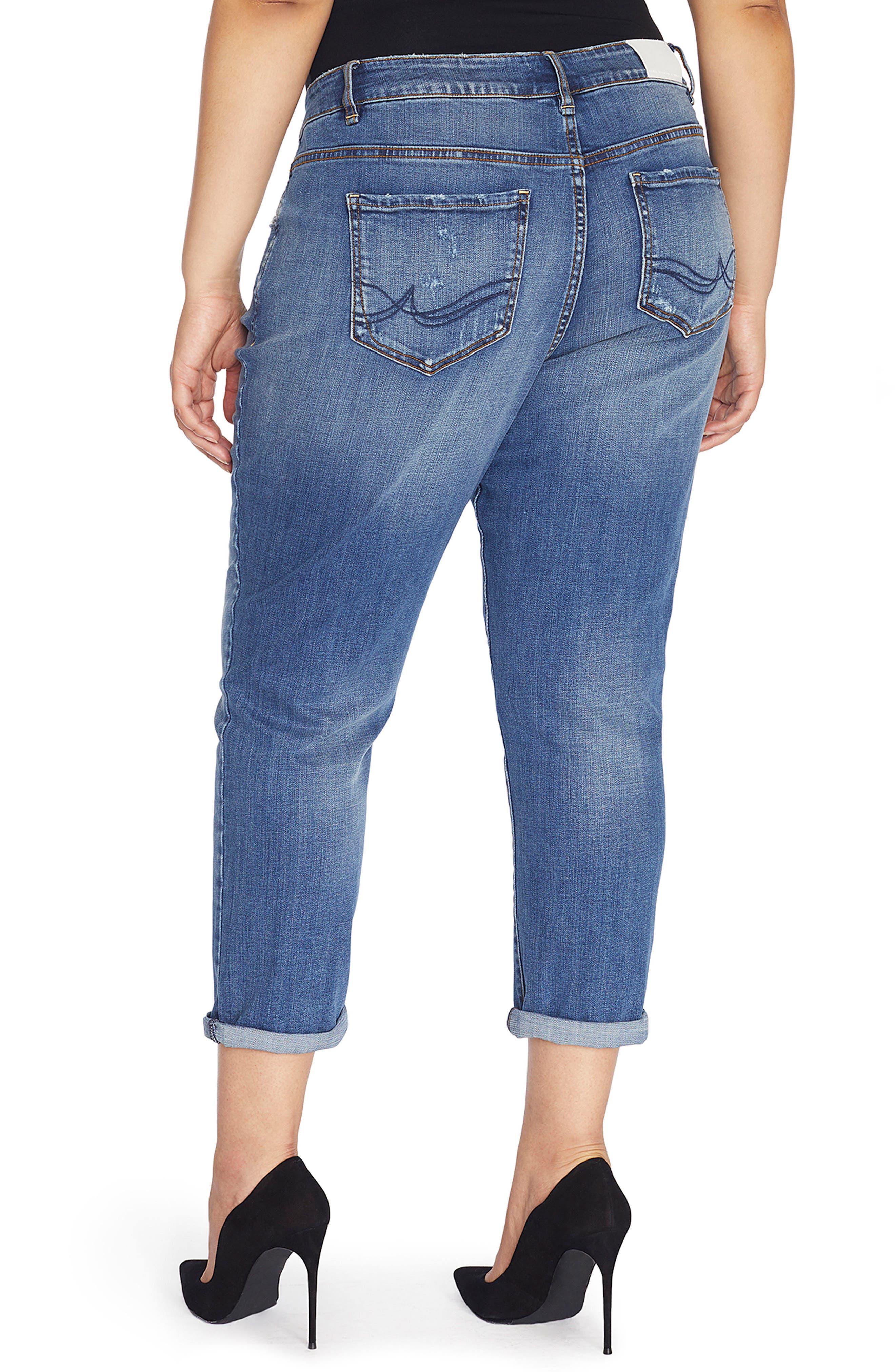 Alternate Image 3  - Rebel Wilson x Angels The Ryot Slim Boyfriend Jeans (Plus Size)