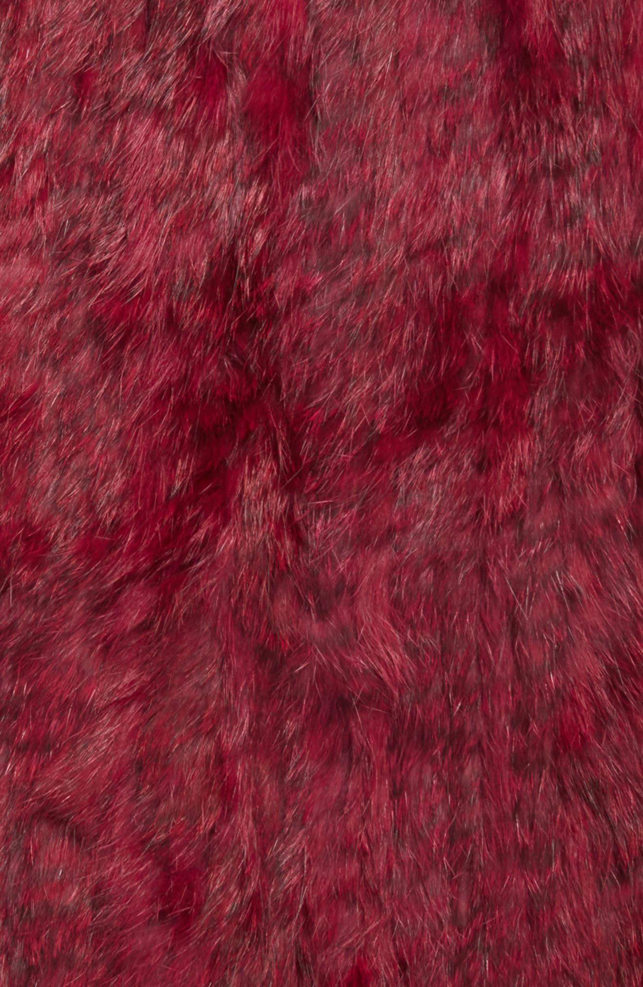 Overdyed Genuine Rabbit Fur Infinity Scarf,                             Alternate thumbnail 4, color,                             Ruby