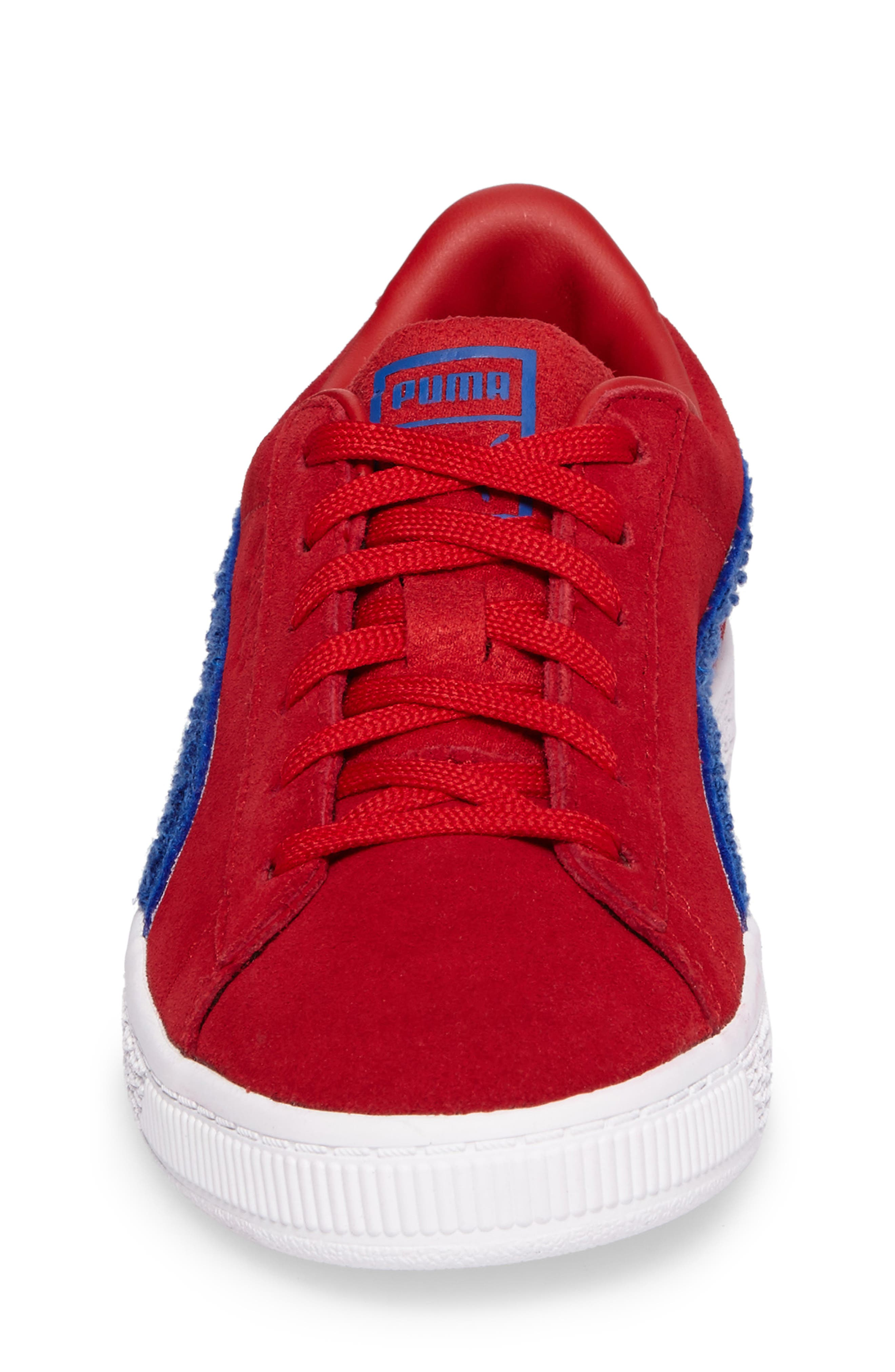 Classic Terry Sneaker,                             Alternate thumbnail 4, color,                             Red