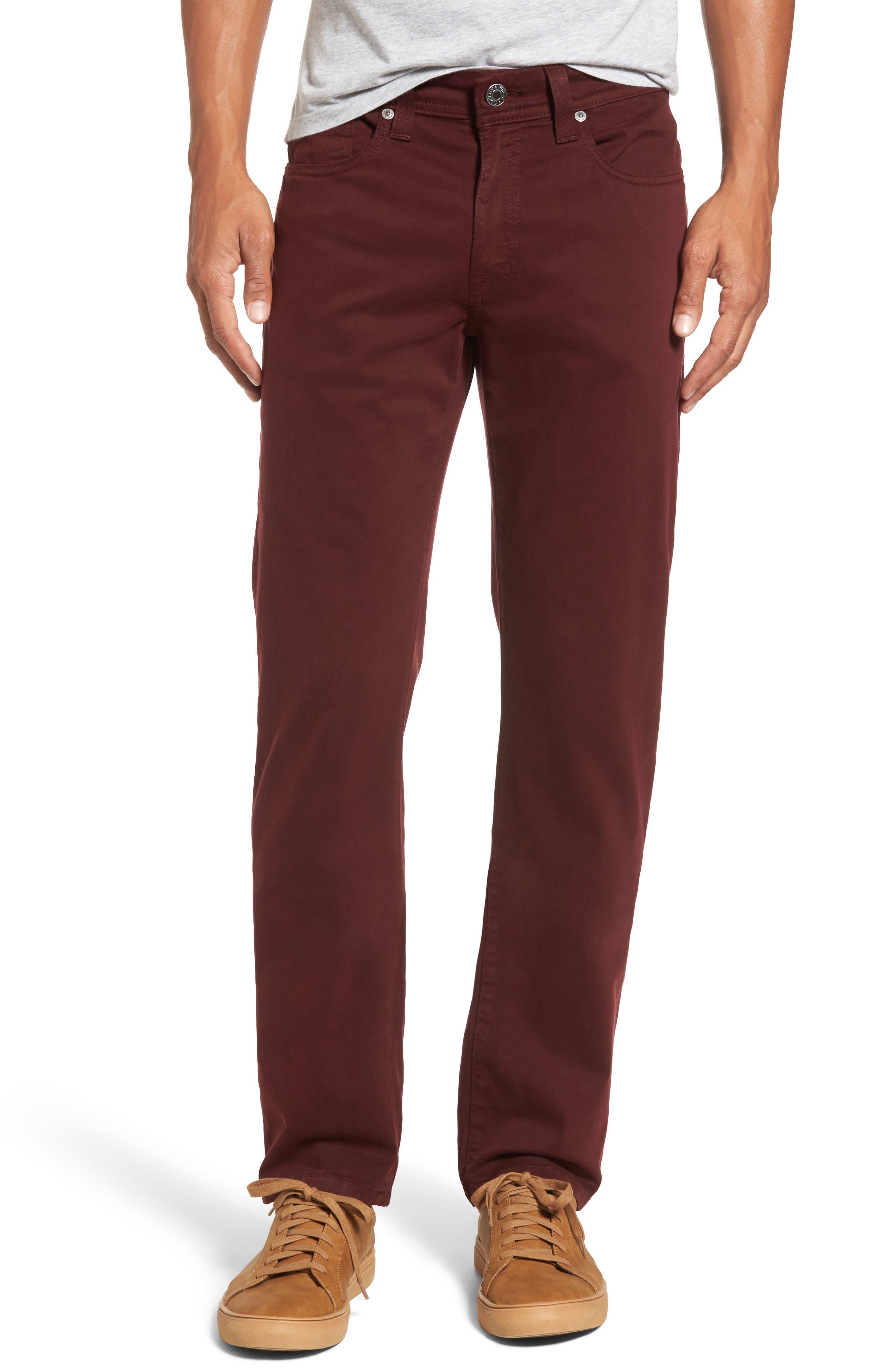 Jimmy Havana Slim Straight Leg Twill Pants,                             Main thumbnail 1, color,                             Oxan