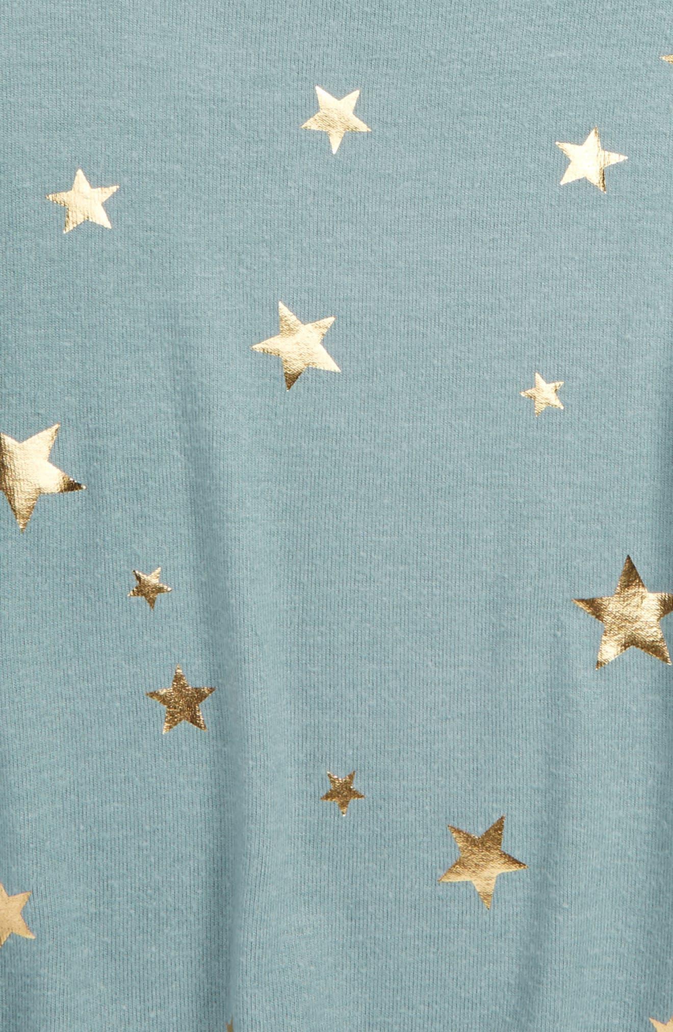 Alternate Image 2  - me.n.u Star Print Ruffle Sweatshirt (Big Girls)