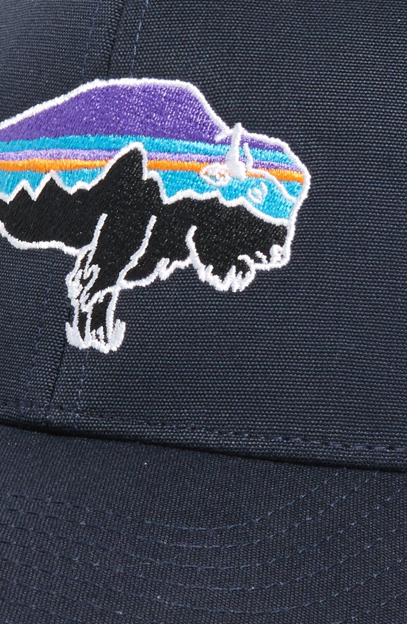 'Fitz Roy Bison' Trucker Hat,                             Alternate thumbnail 3, color,                             Navy Blue