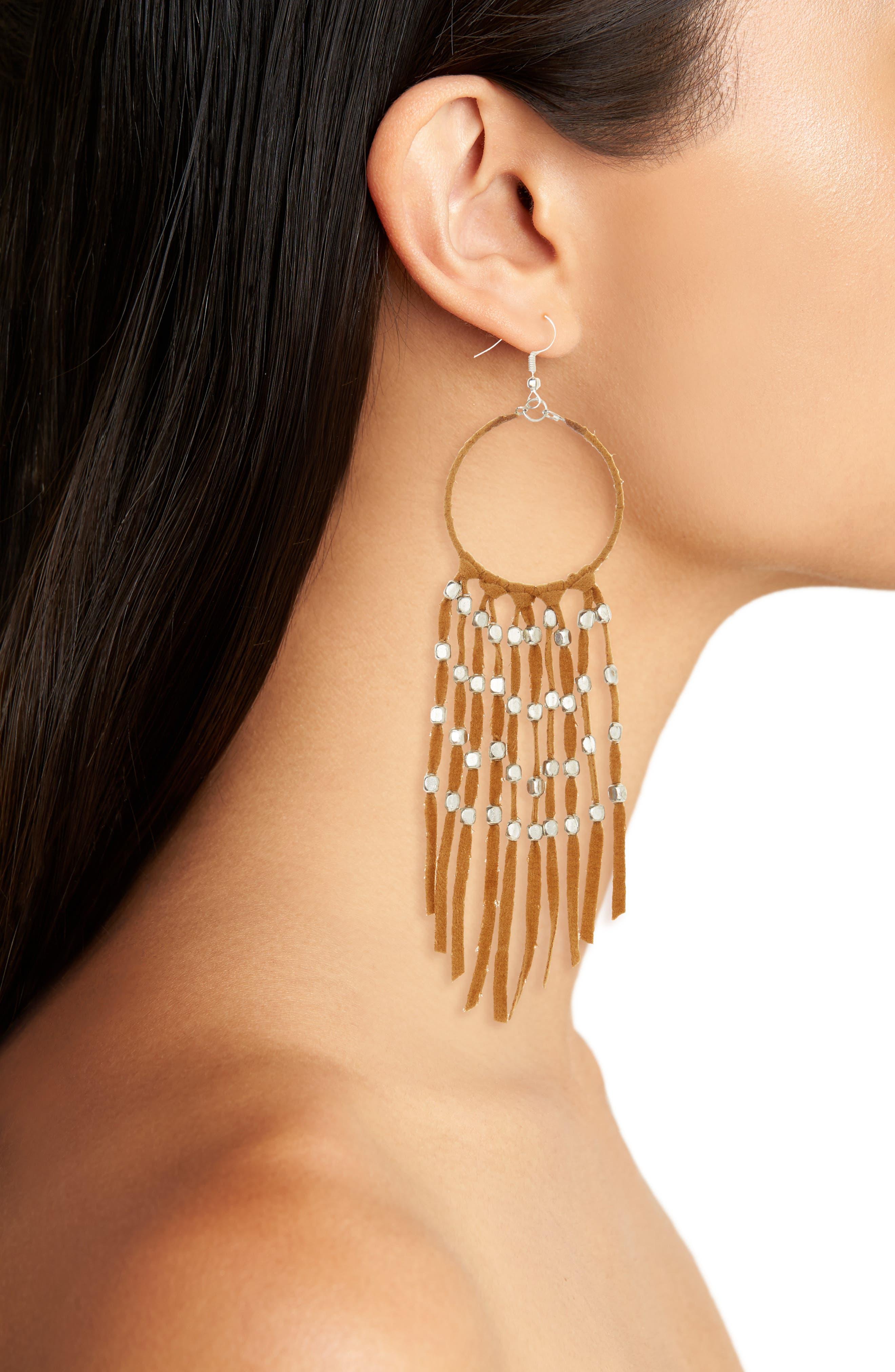 Alternate Image 2  - Panacea Suede Fringe Earrings