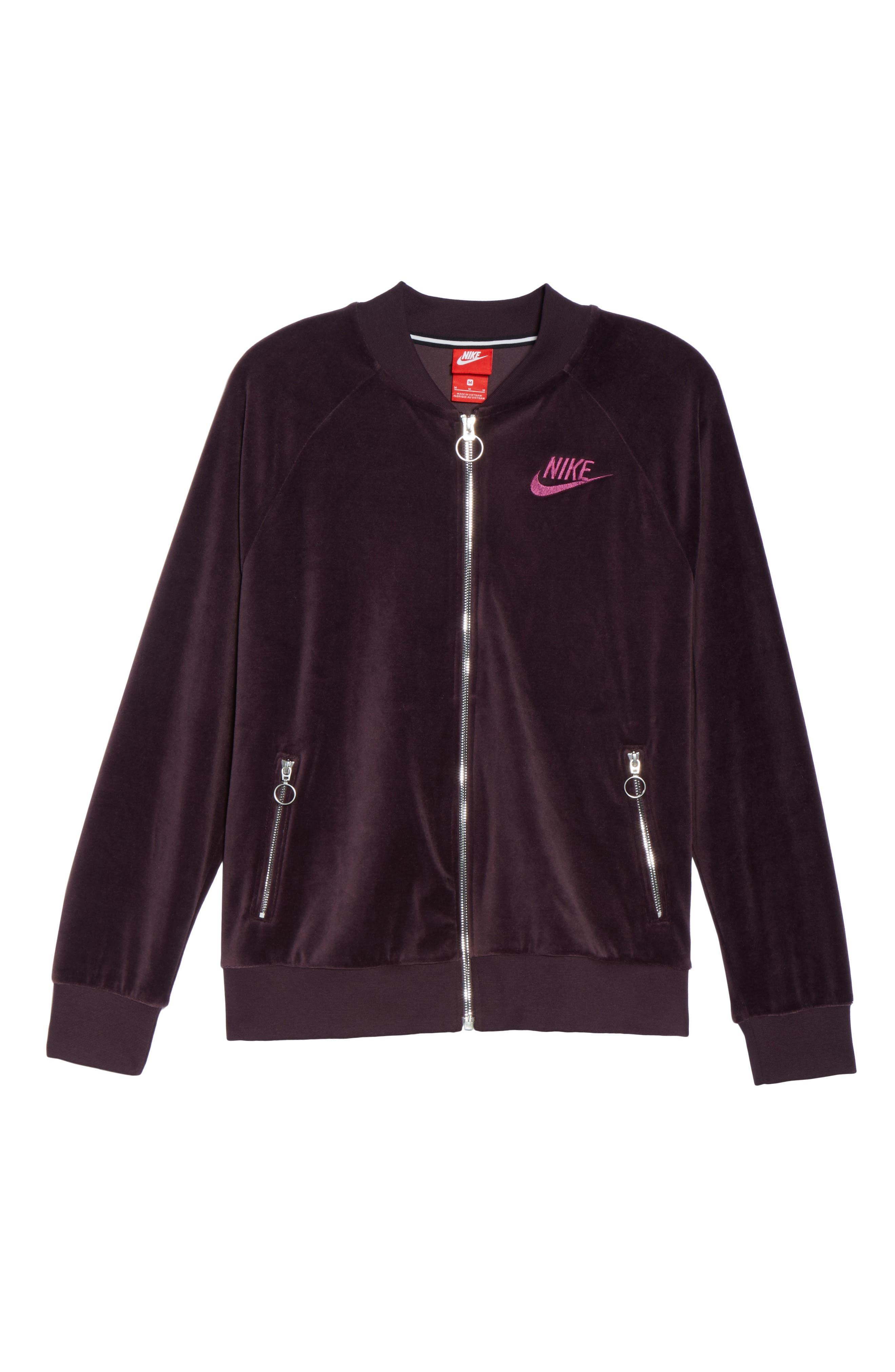Alternate Image 4  - Nike Velour Jacket