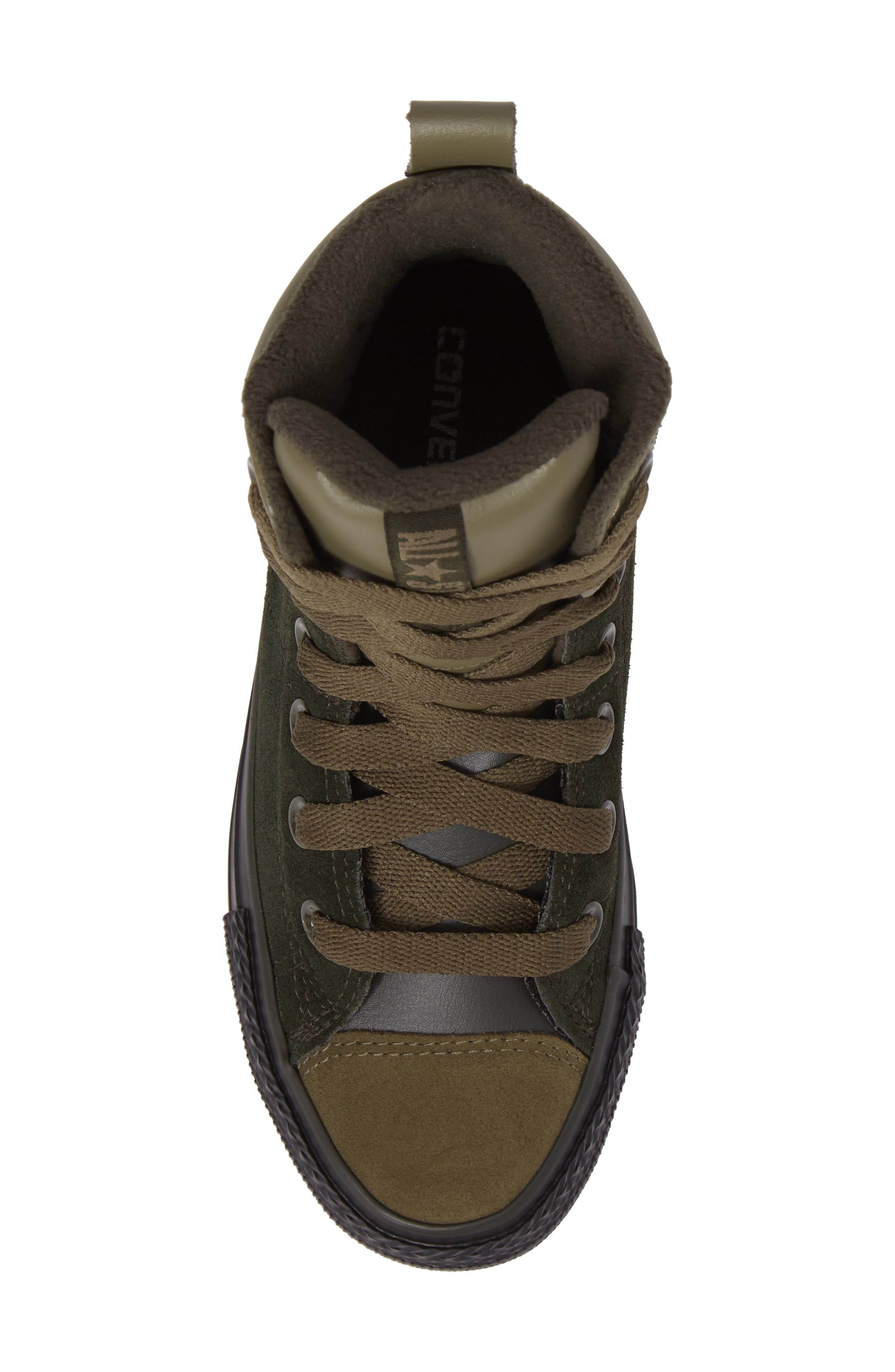 Chuck Taylor<sup>®</sup> All Star<sup>®</sup> Asphalt Sneaker Boot,                             Alternate thumbnail 5, color,                             Sequoia