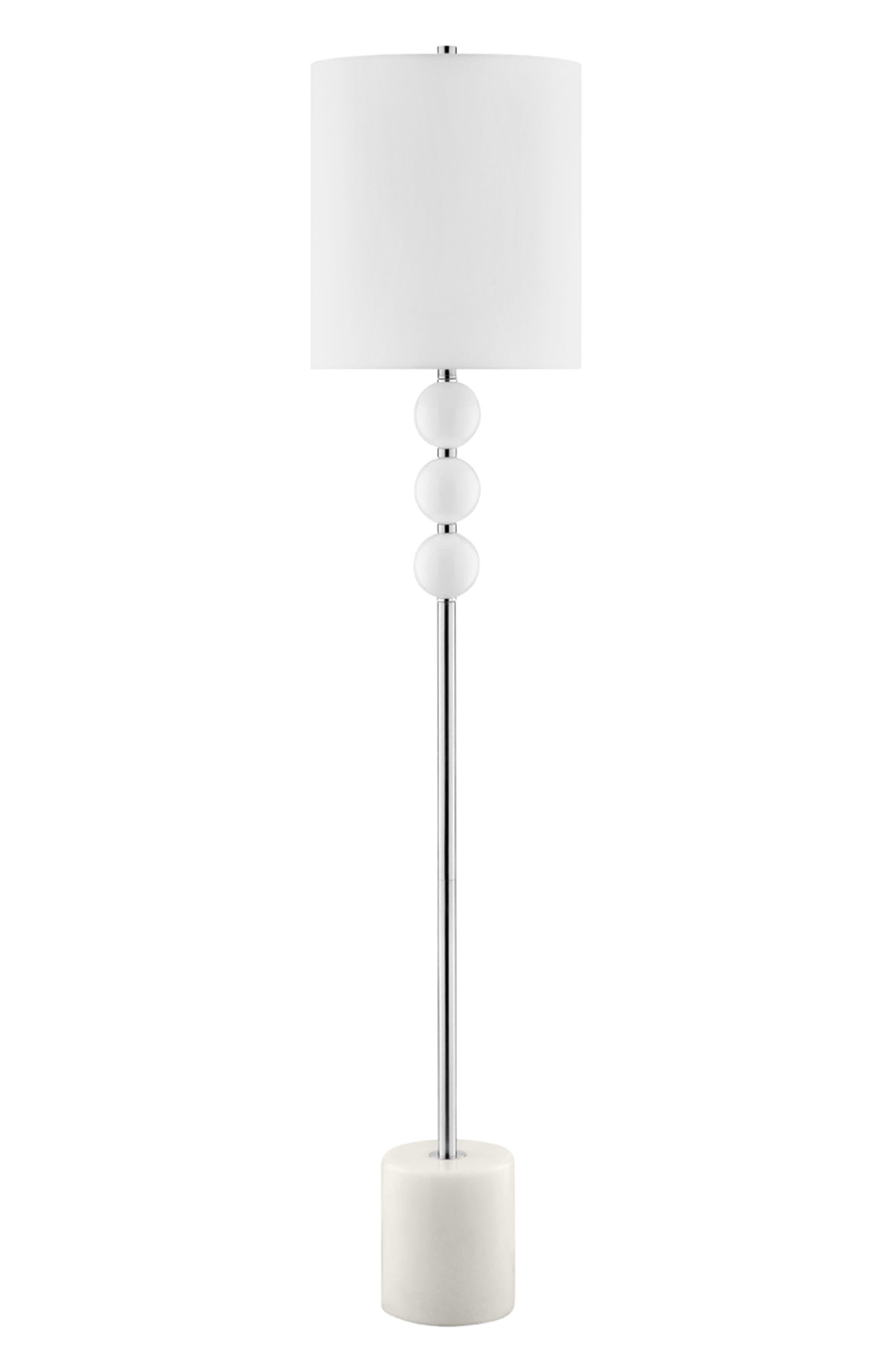 JAlexander Viola Floor Lamp,                             Main thumbnail 1, color,                             White