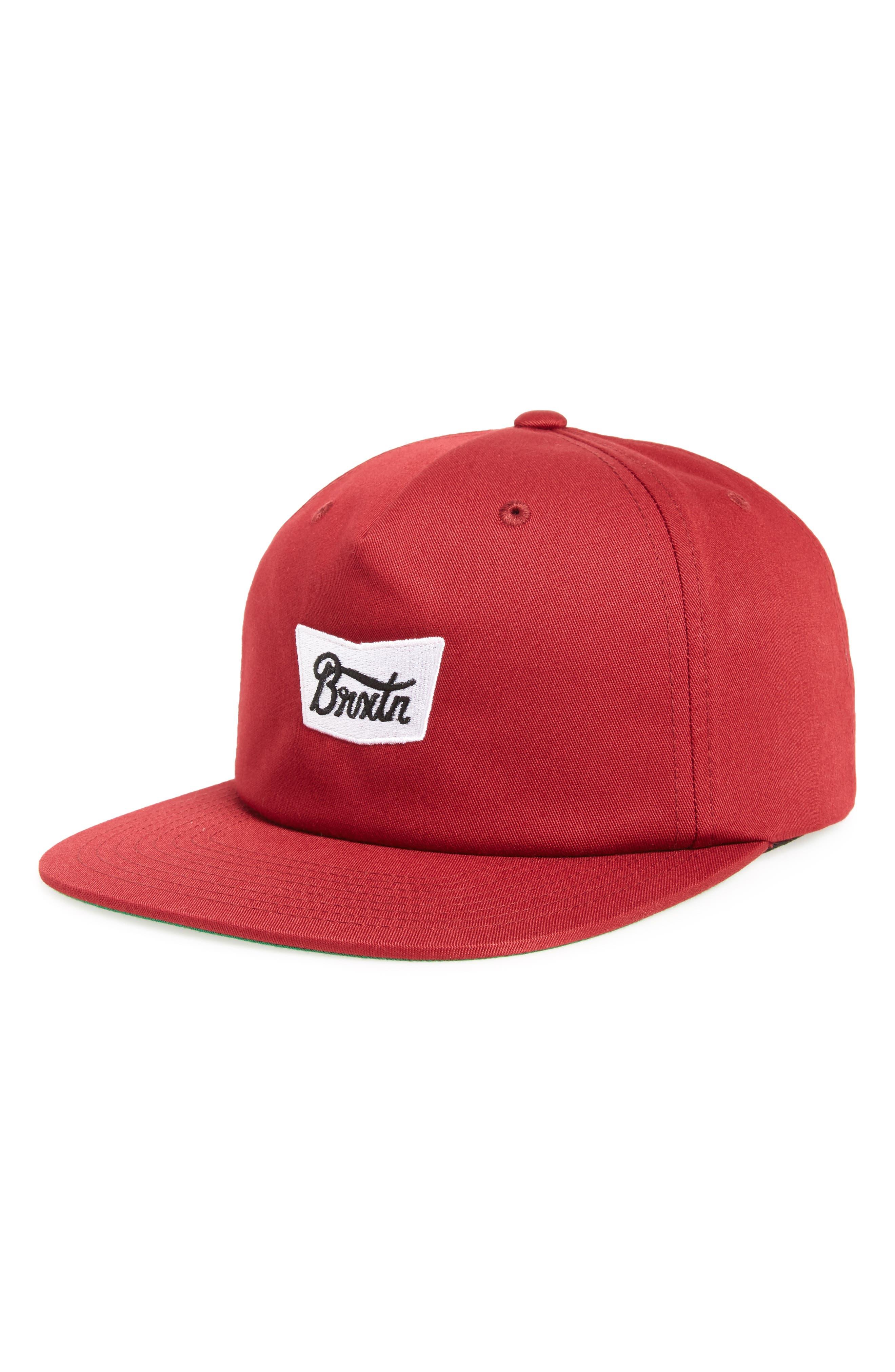 Snapback Baseball Cap,                         Main,                         color, Burgundy