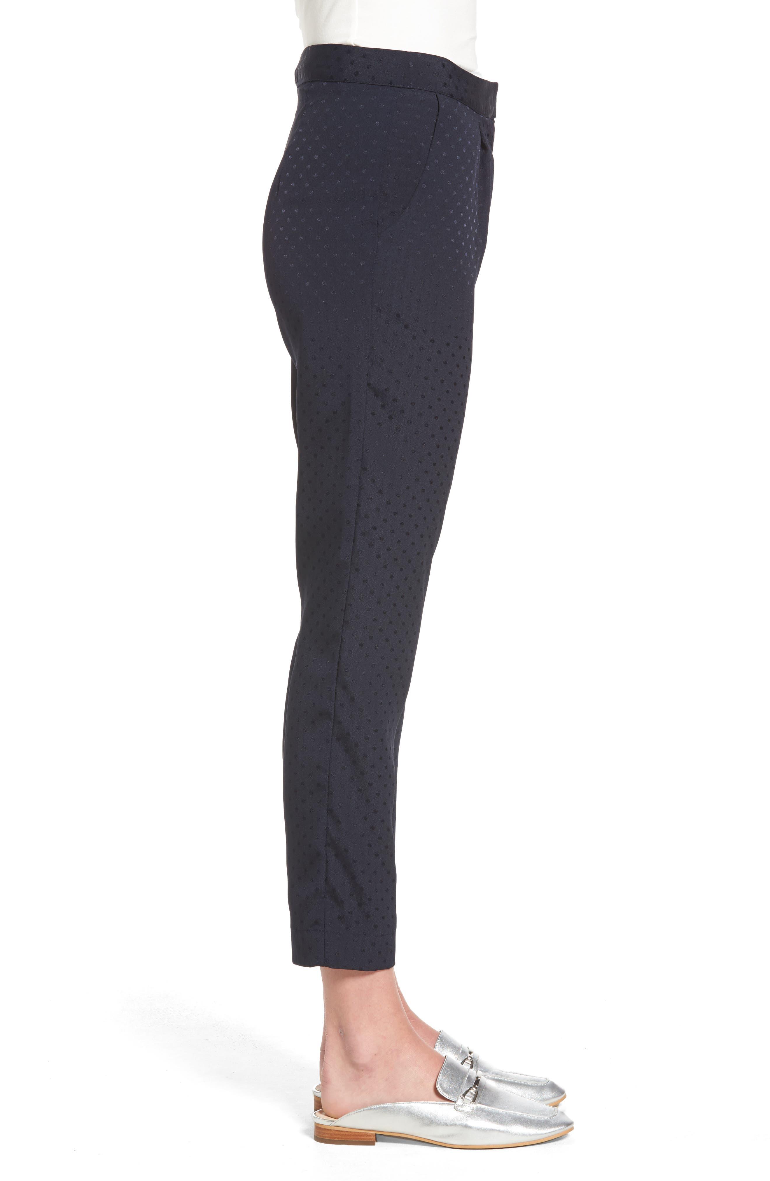 Alternate Image 3  - Willow & Clay Tonal Dot Slim Pants