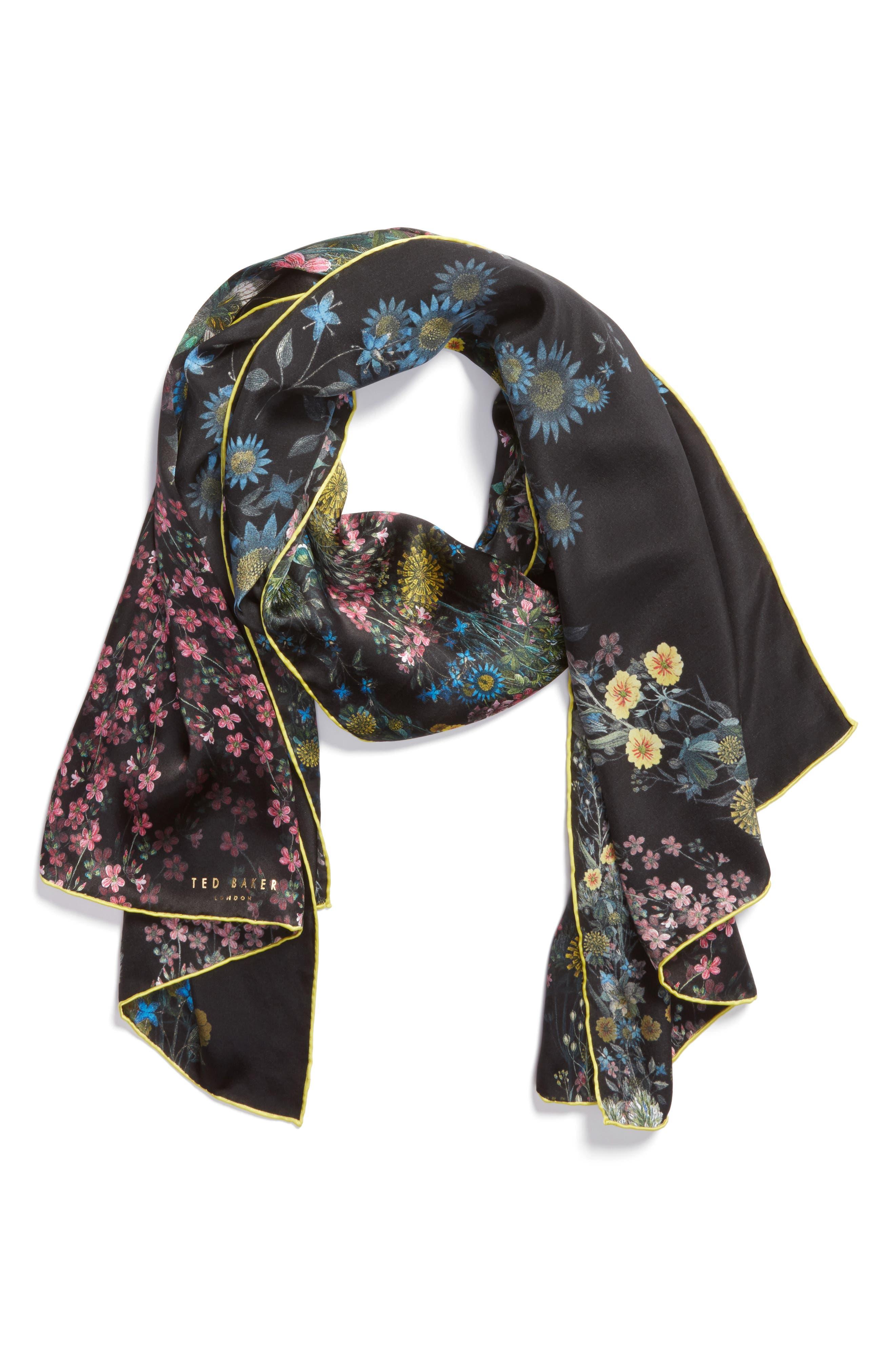 Alternate Image 3  - Ted Baker London Unity Floral Silk Scarf