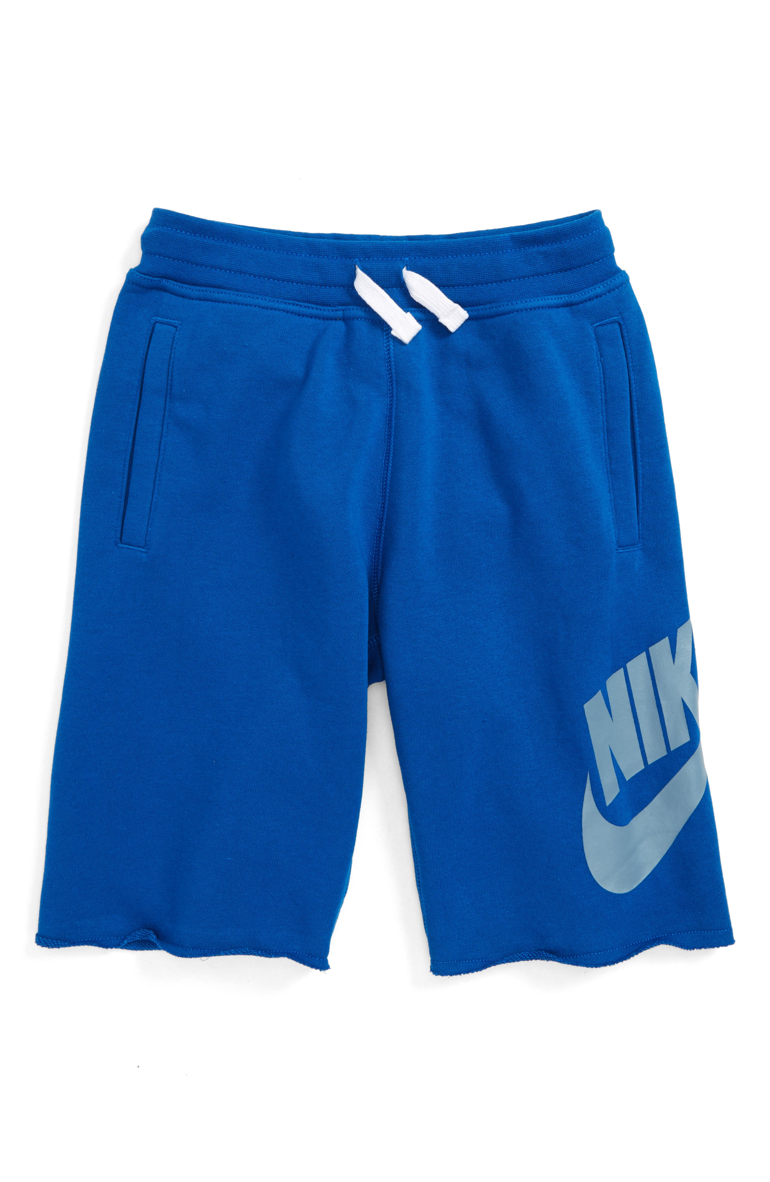 'Alumni' French Terry Knit Shorts,                         Main,                         color, Blujay