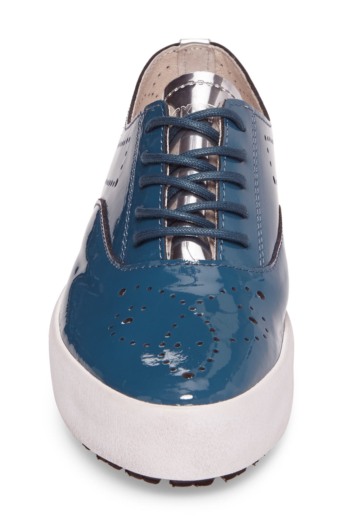 NL41 Sneaker,                             Alternate thumbnail 4, color,                             Turquoise Patent Leather