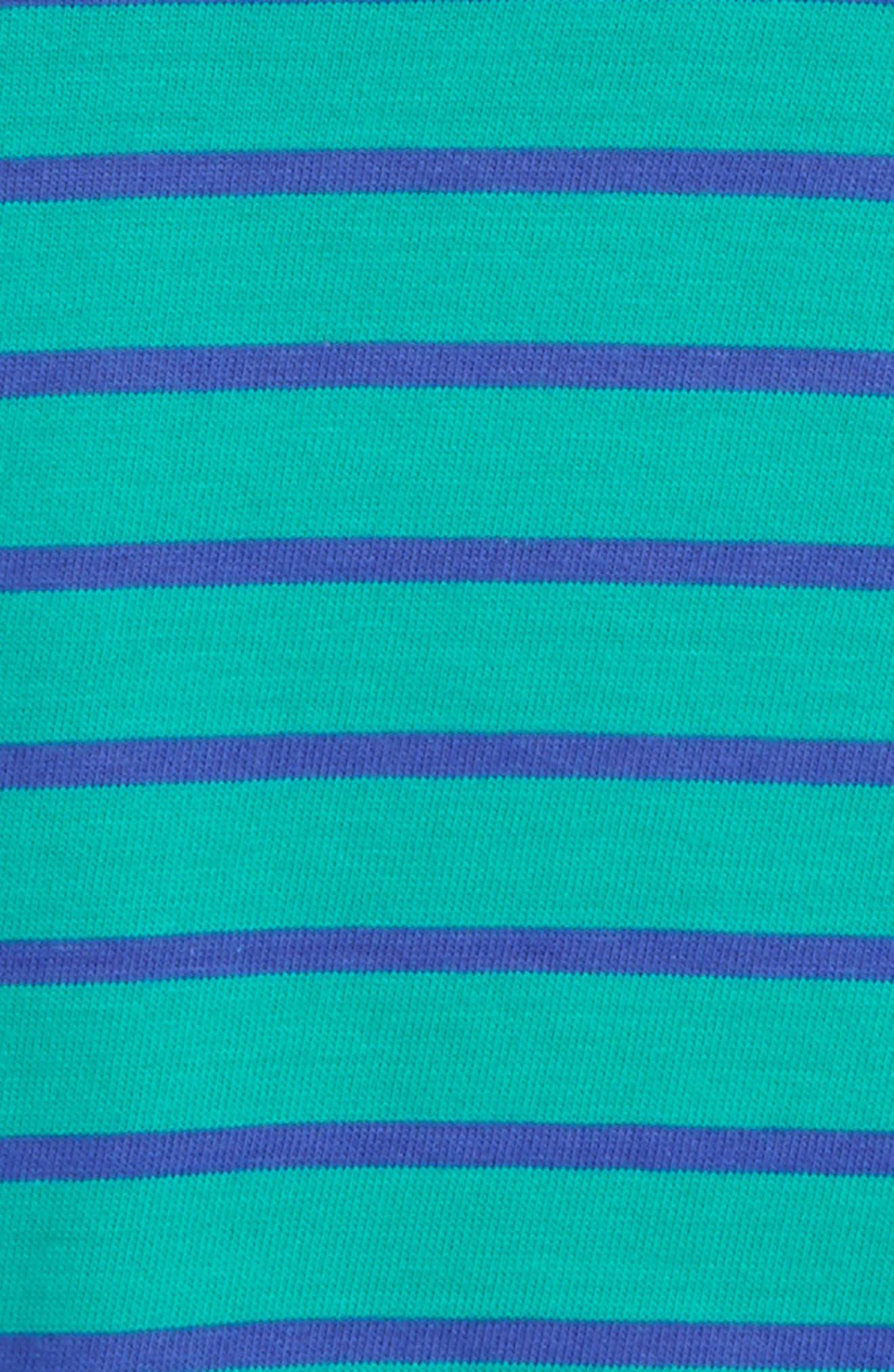 Supersoft Stripe T-Shirt,                             Alternate thumbnail 2, color,                             Wild Green/ Gymnasium Blue