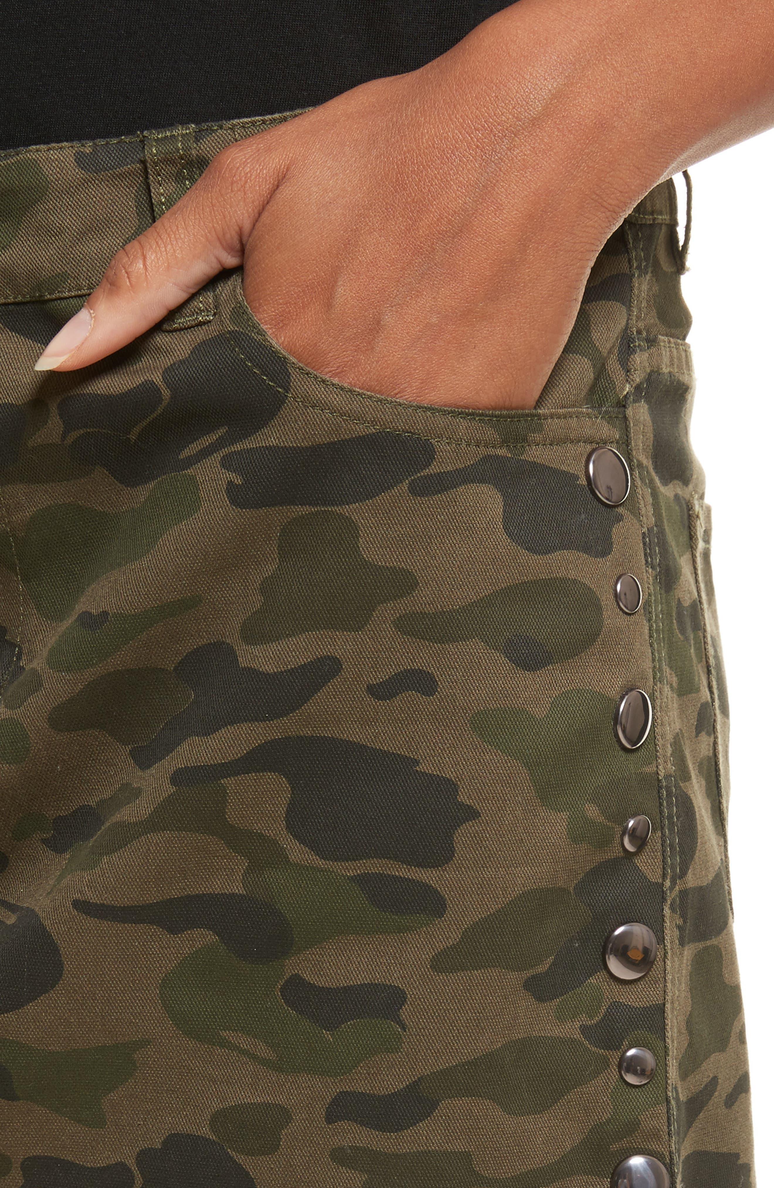 Dove Camo Miniskirt,                             Alternate thumbnail 4, color,                             Camouflage