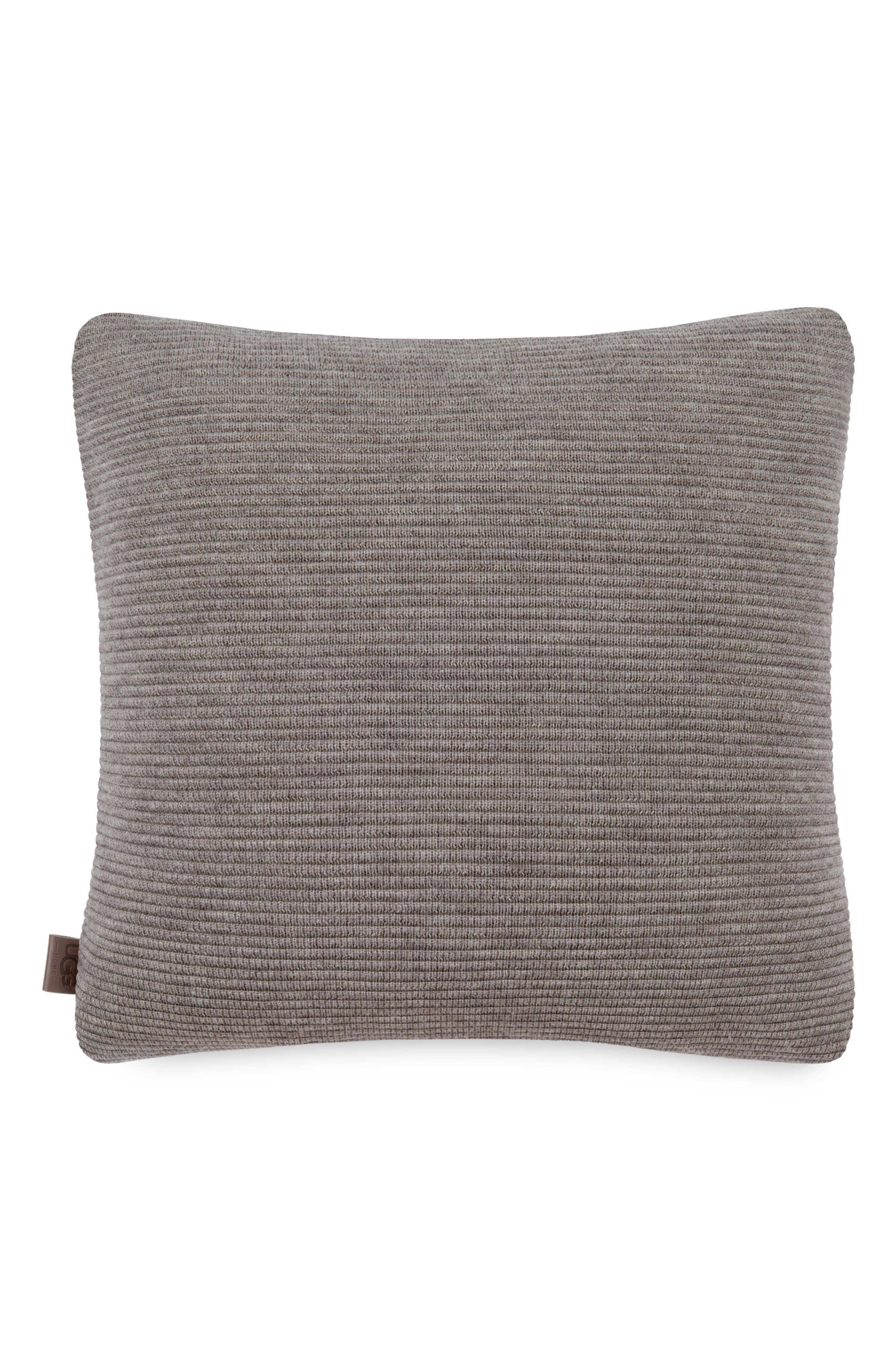 Horizontal Rib Pillow,                             Main thumbnail 1, color,                             Fawn/ Doeskin