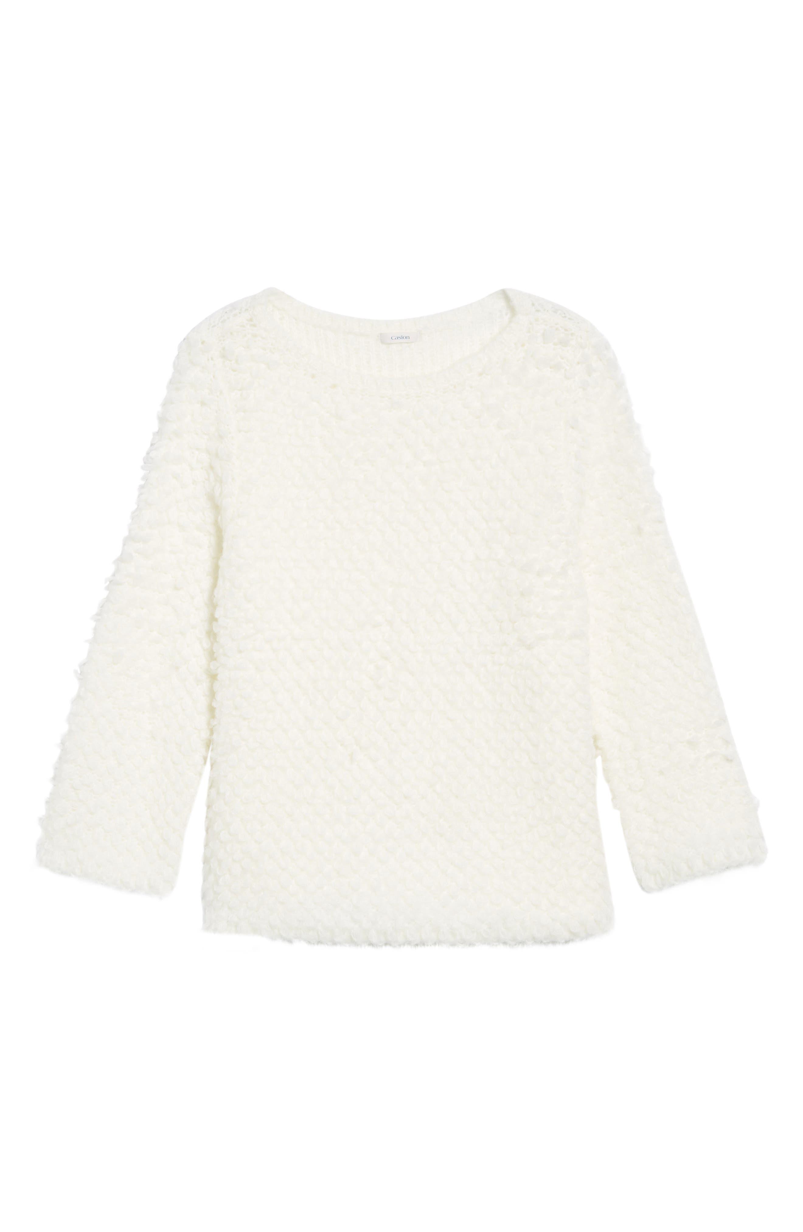 Alternate Image 6  - Caslon® Loop Stitch Crewneck Sweater