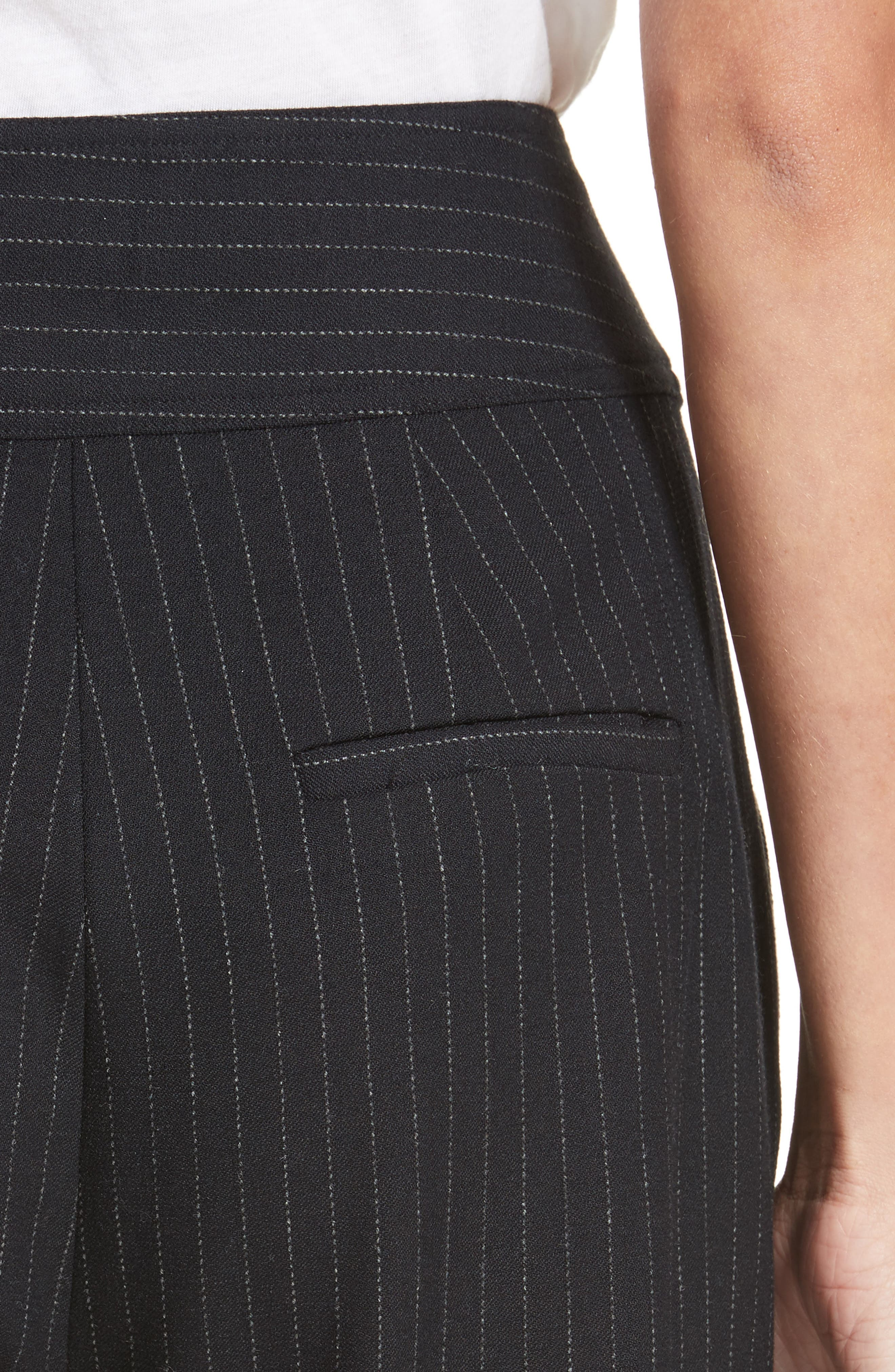 Alternate Image 5  - Rebecca Taylor Pinstripe Ruffle Pants