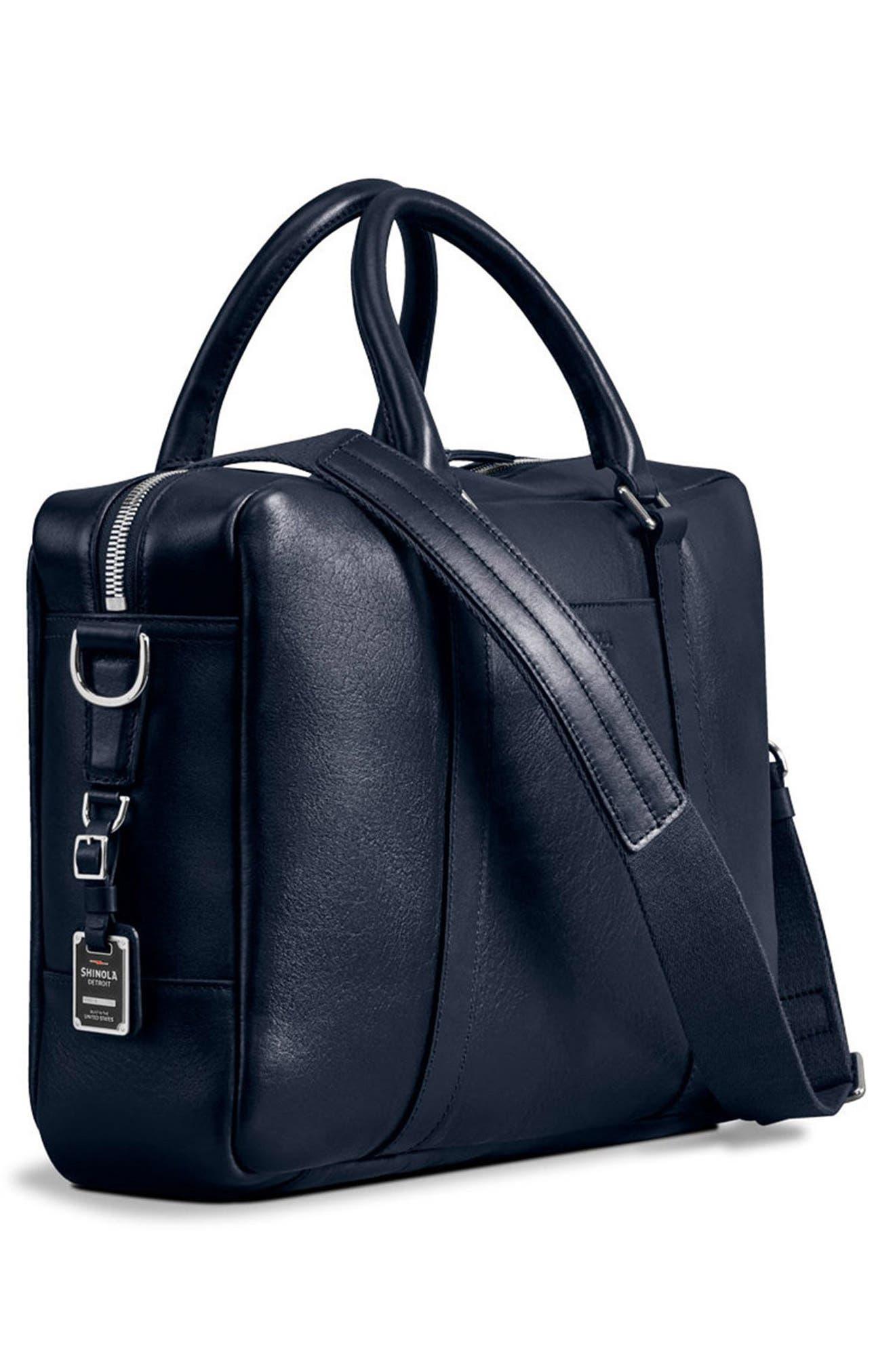 Alternate Image 4  - Shinola Signature Leather Slim Briefcase